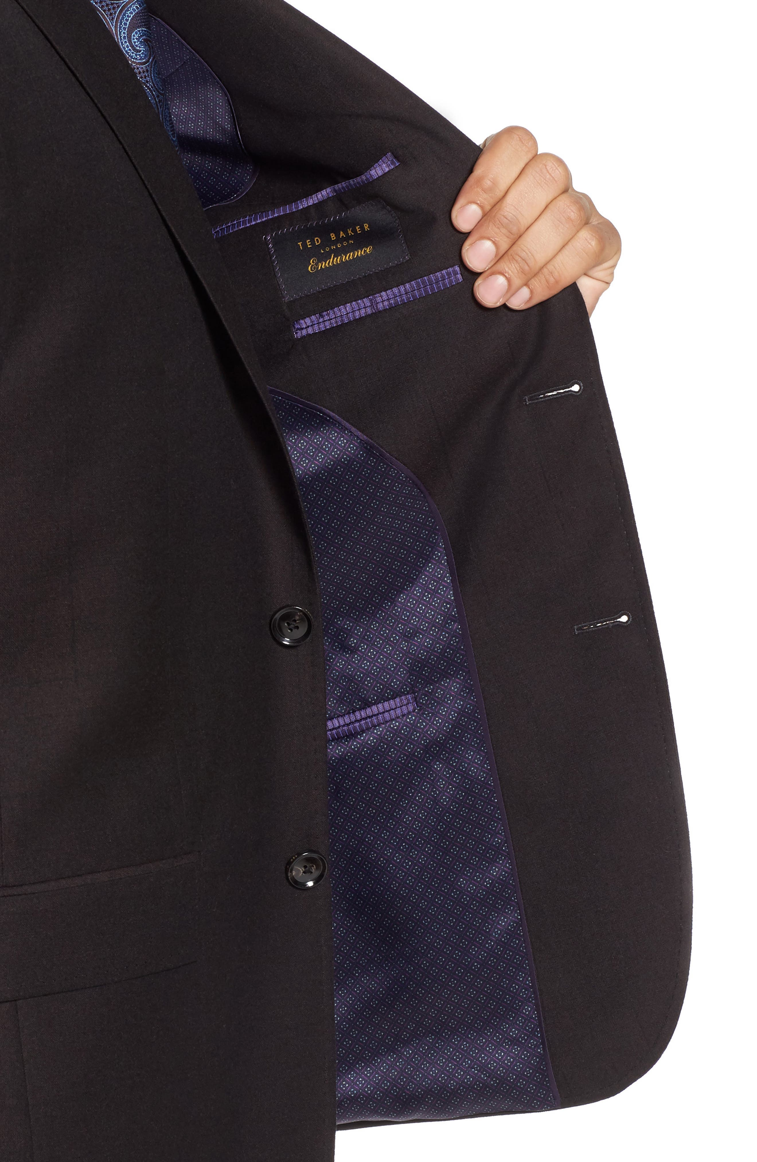 Jay Trim Fit Solid Wool Suit,                             Alternate thumbnail 4, color,                             200