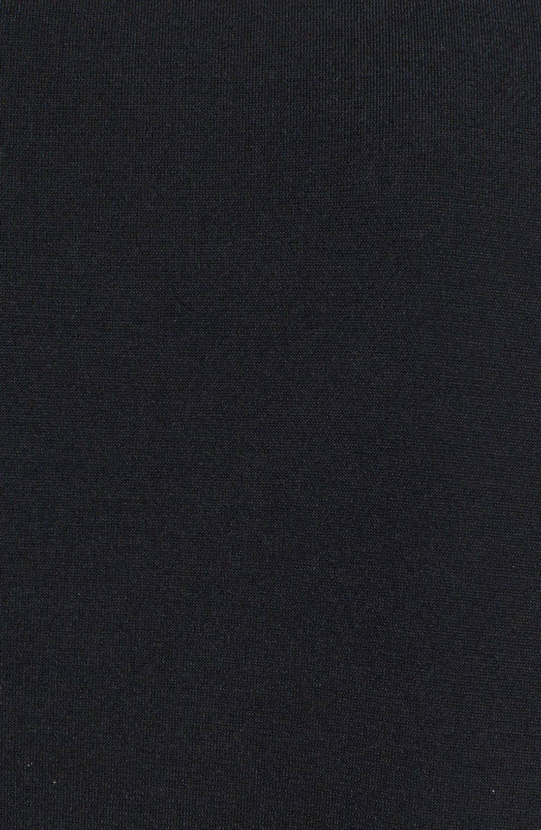 Faux Wrap Jersey Jumpsuit,                             Alternate thumbnail 9, color,                             BLACK