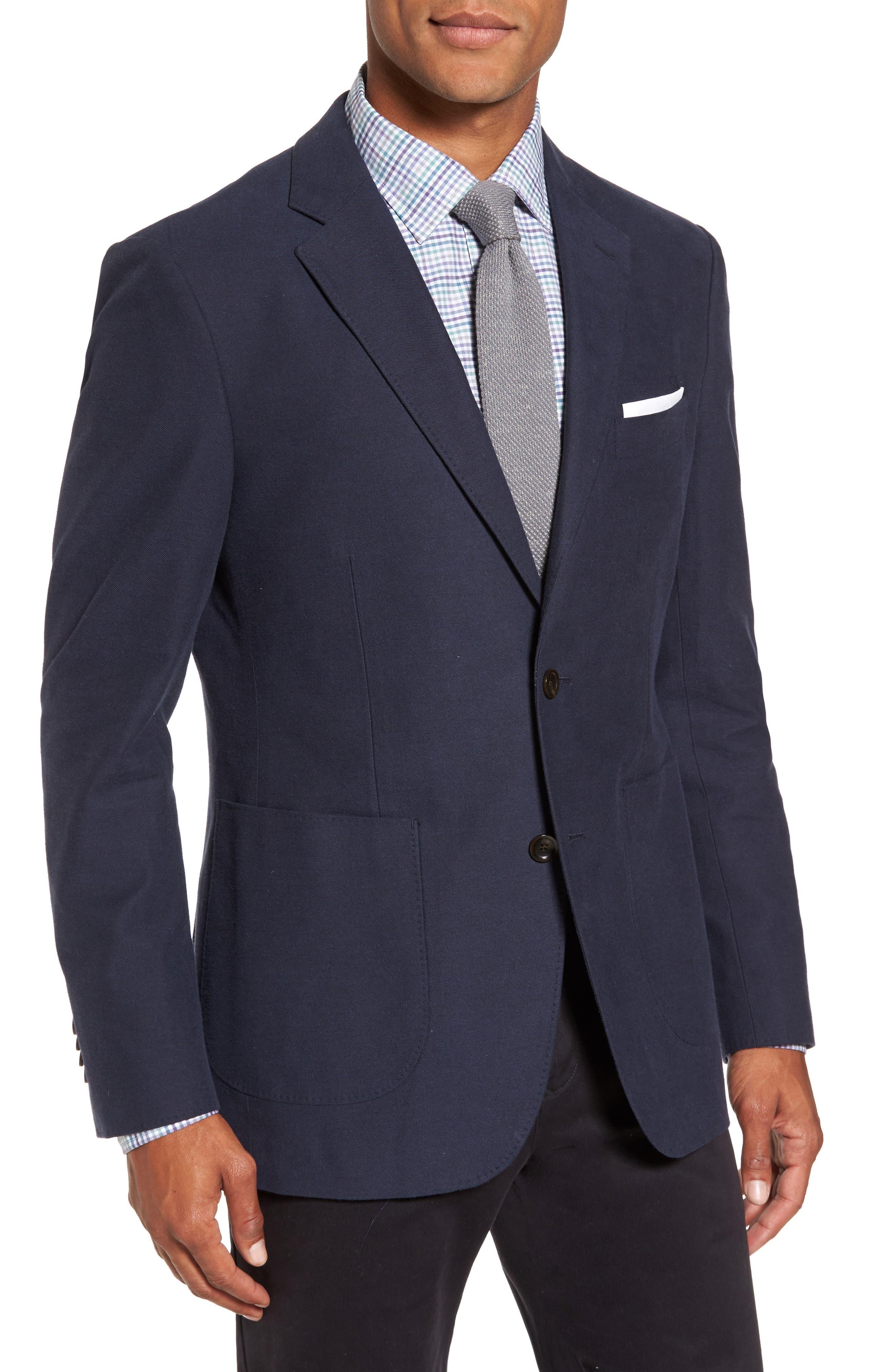 Pembroke Sports Fit Twill Jacket,                             Main thumbnail 1, color,                             410
