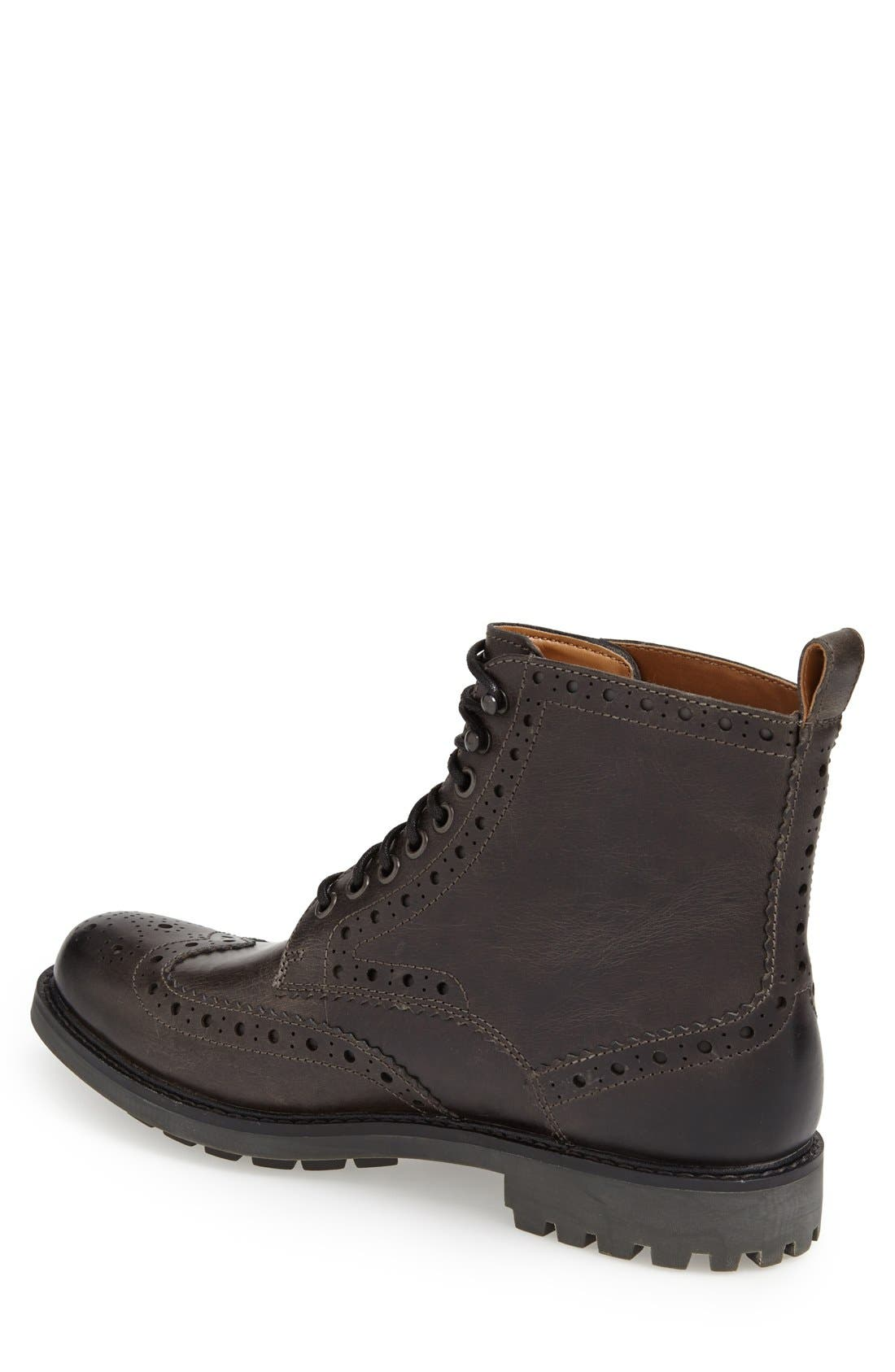 'Montacute Lord' Wingtip Boot,                             Alternate thumbnail 3, color,                             020