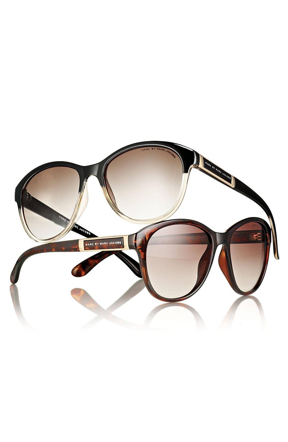 Retro Plastic Sunglasses, Main, color, 201