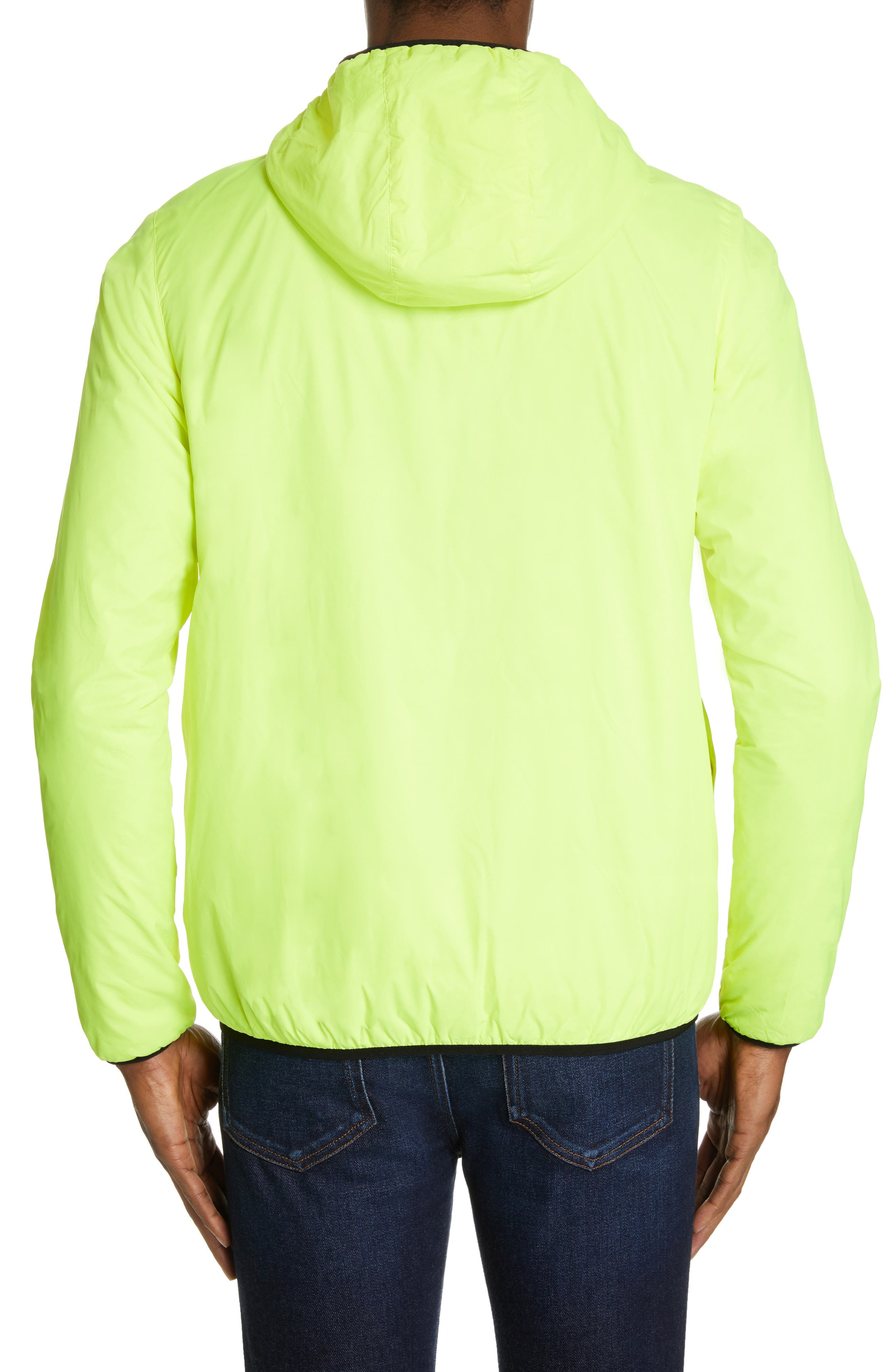 Le Vrai 3.0 Claude Light Warm Water Resistant Hooded Windbreaker,                             Alternate thumbnail 3, color,                             YELLOW FLUO