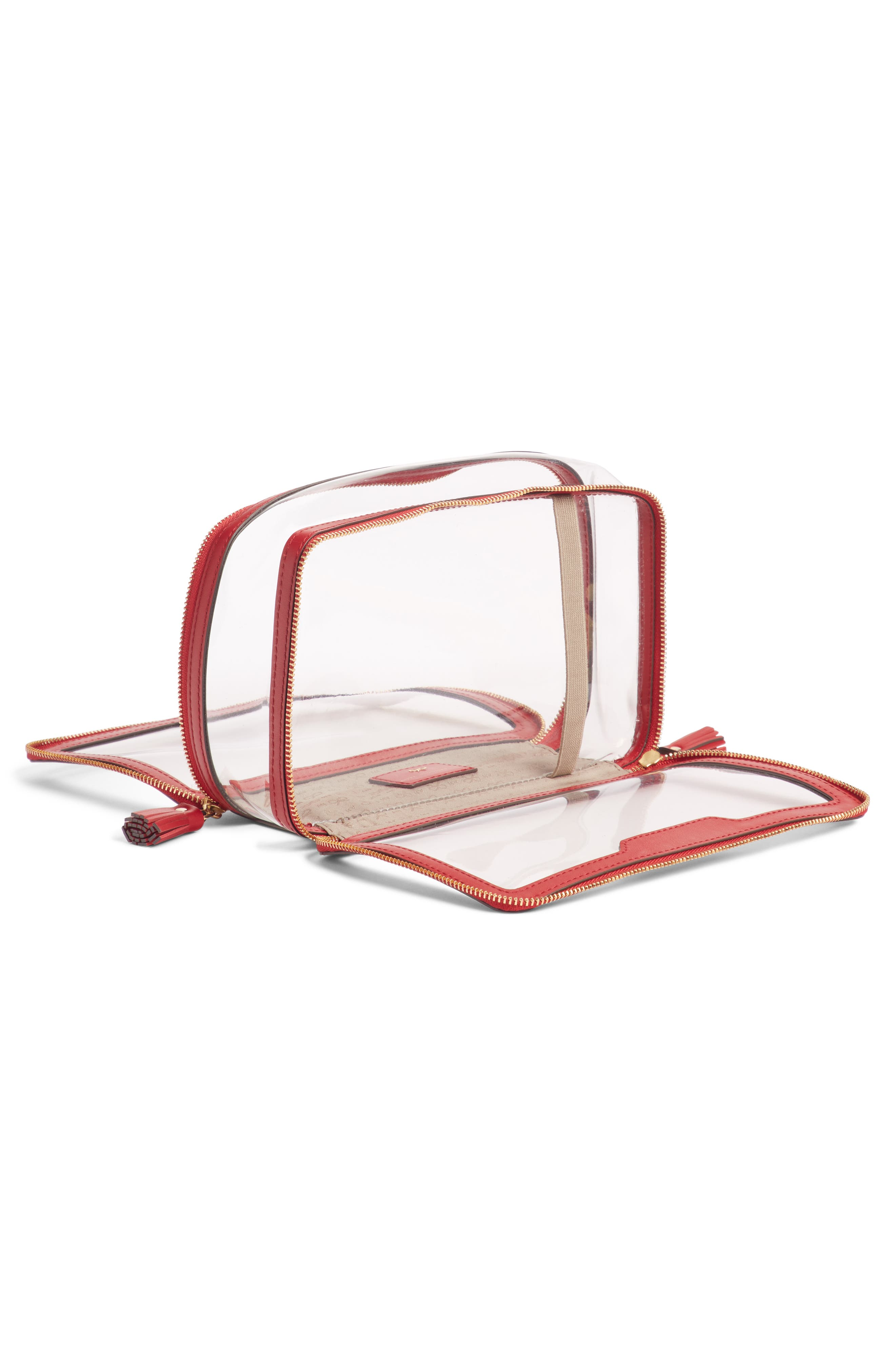 Inflight Clear Cosmetics Case,                             Alternate thumbnail 5, color,                             600