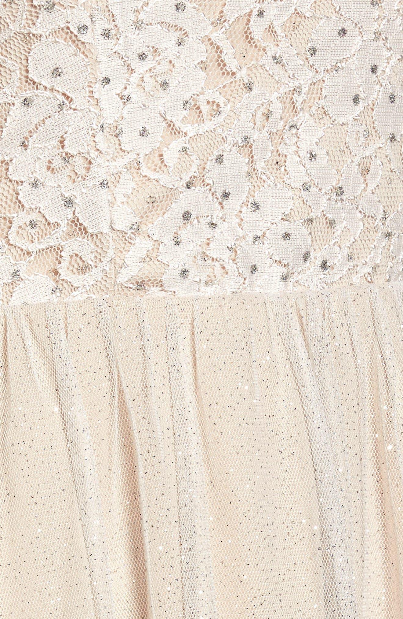 Glitter Tulle Dress,                             Alternate thumbnail 6, color,                             681
