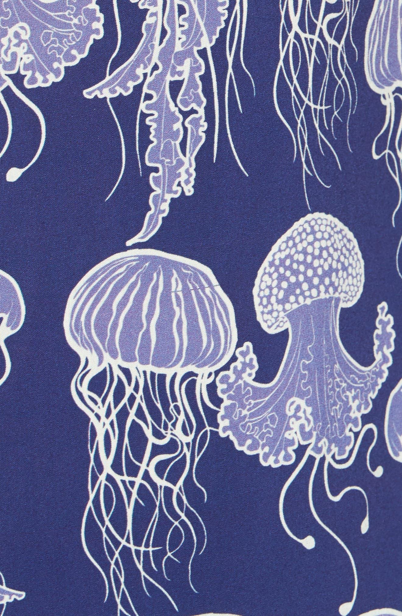 Jellyfish Print Camp Shirt,                             Alternate thumbnail 5, color,                             400