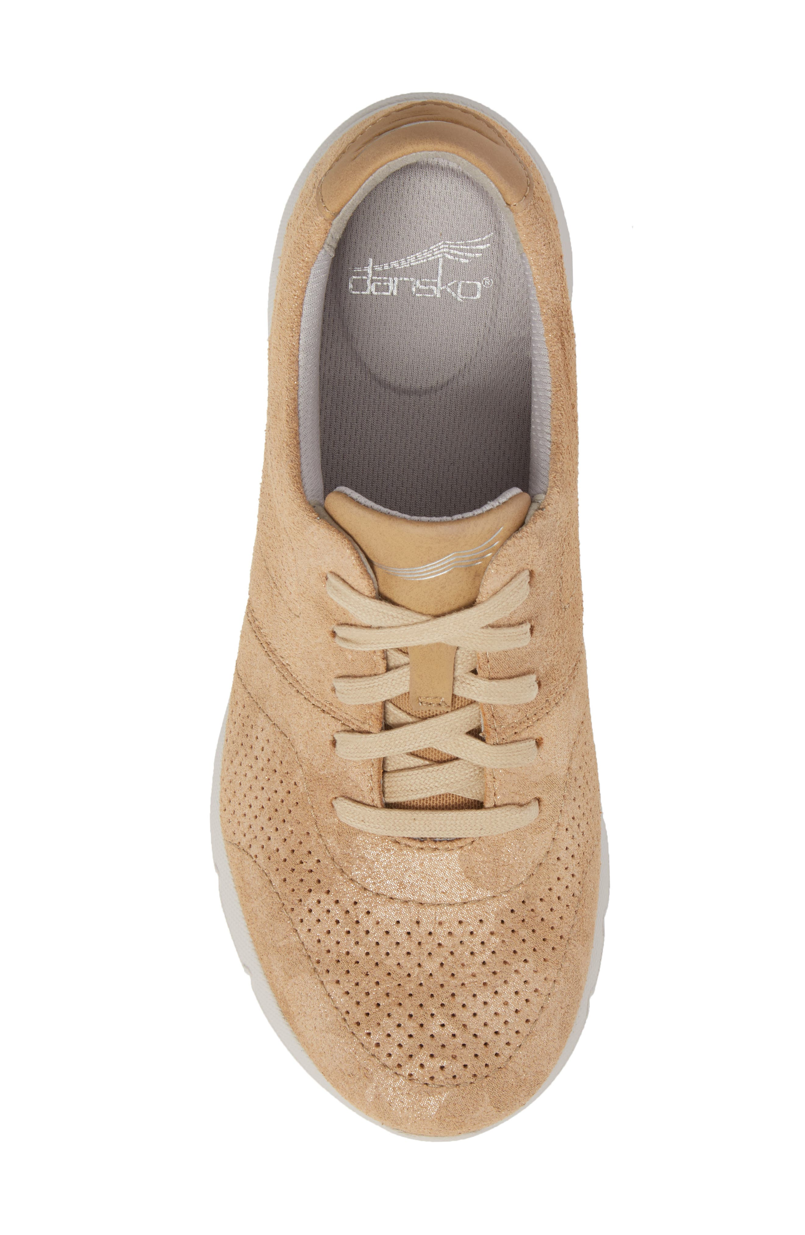 Alissa Sneaker,                             Alternate thumbnail 5, color,                             GOLD PRINT LEATHER