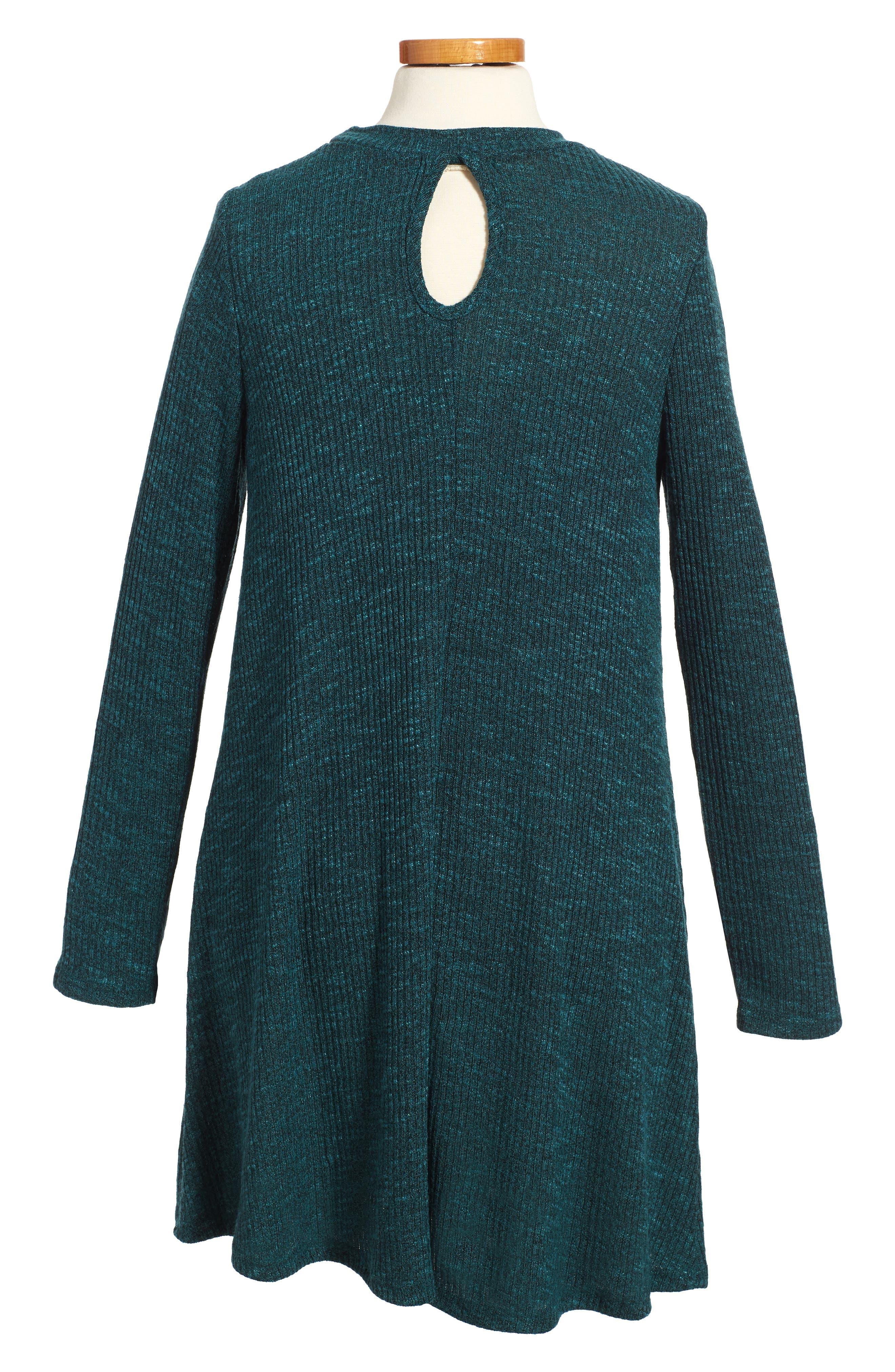 Rib Knit Sweater Dress,                             Alternate thumbnail 2, color,                             359