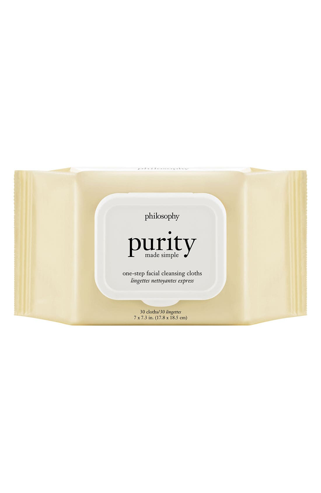 'purity made simple' one-step facial cleansing cloths,                         Main,                         color, NO COLOR