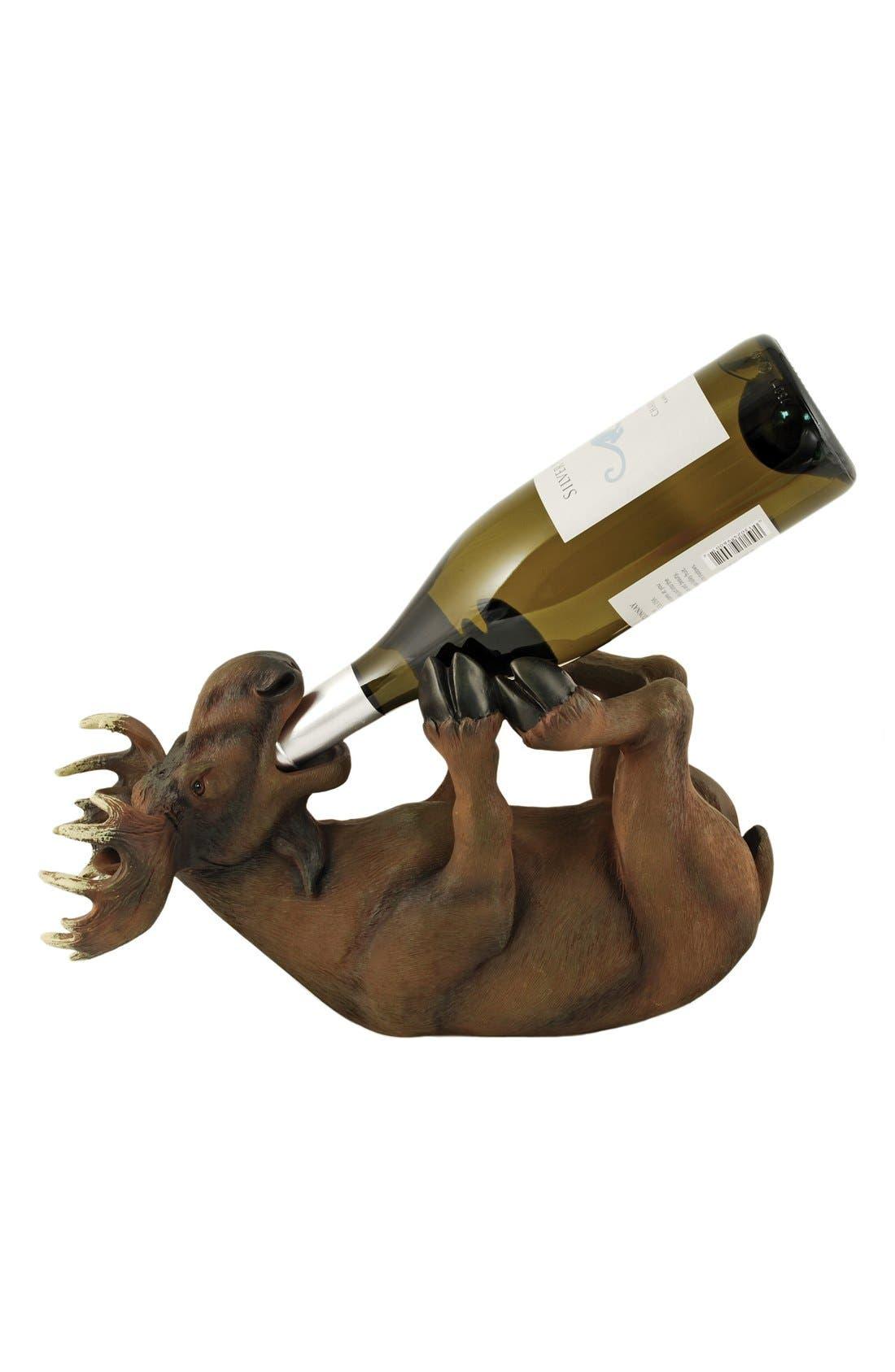 TRUE FABRICATIONS Moose Wine Bottle Holder, Main, color, 200