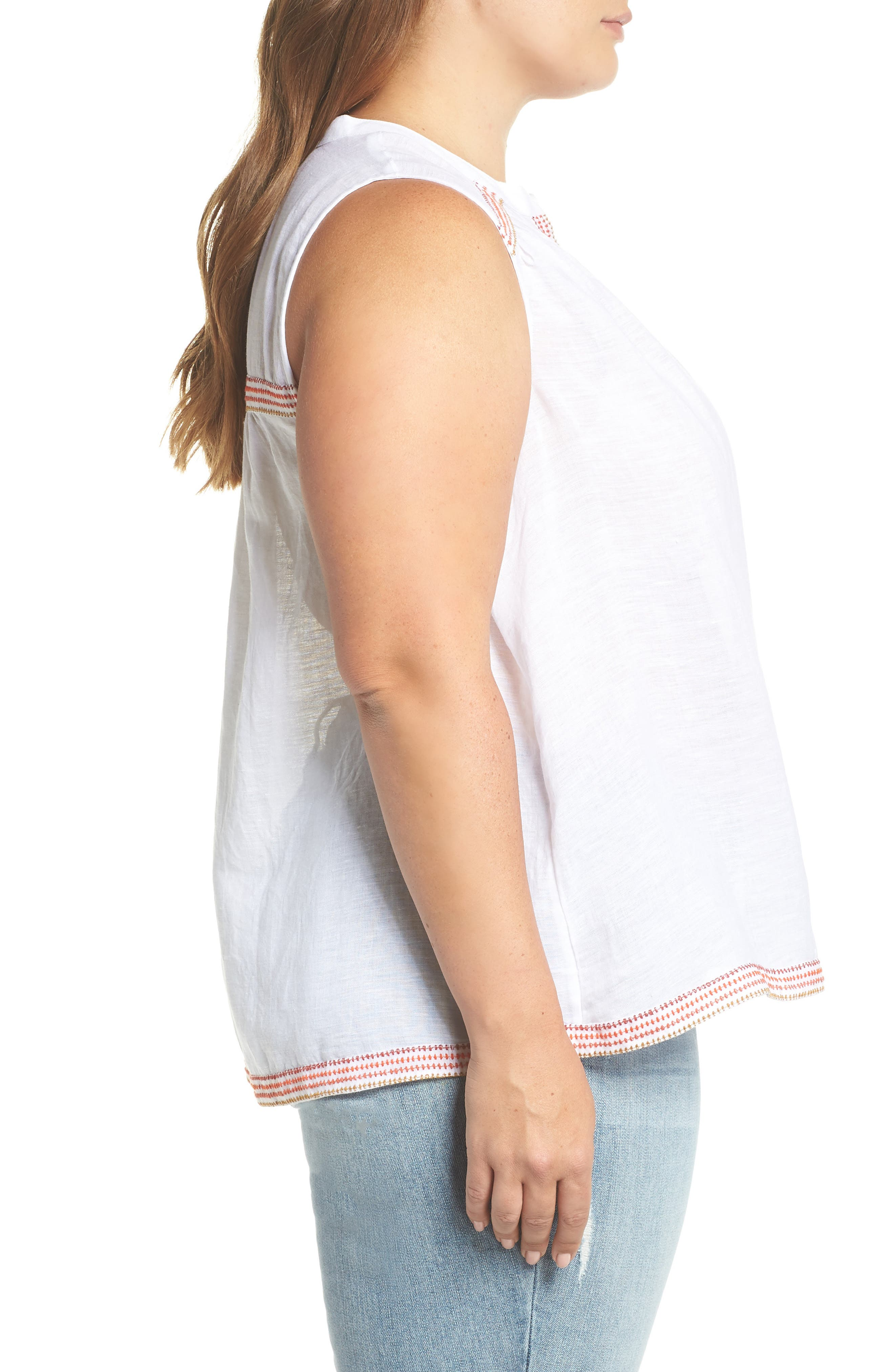 Embroidered Tank,                             Alternate thumbnail 3, color,                             001