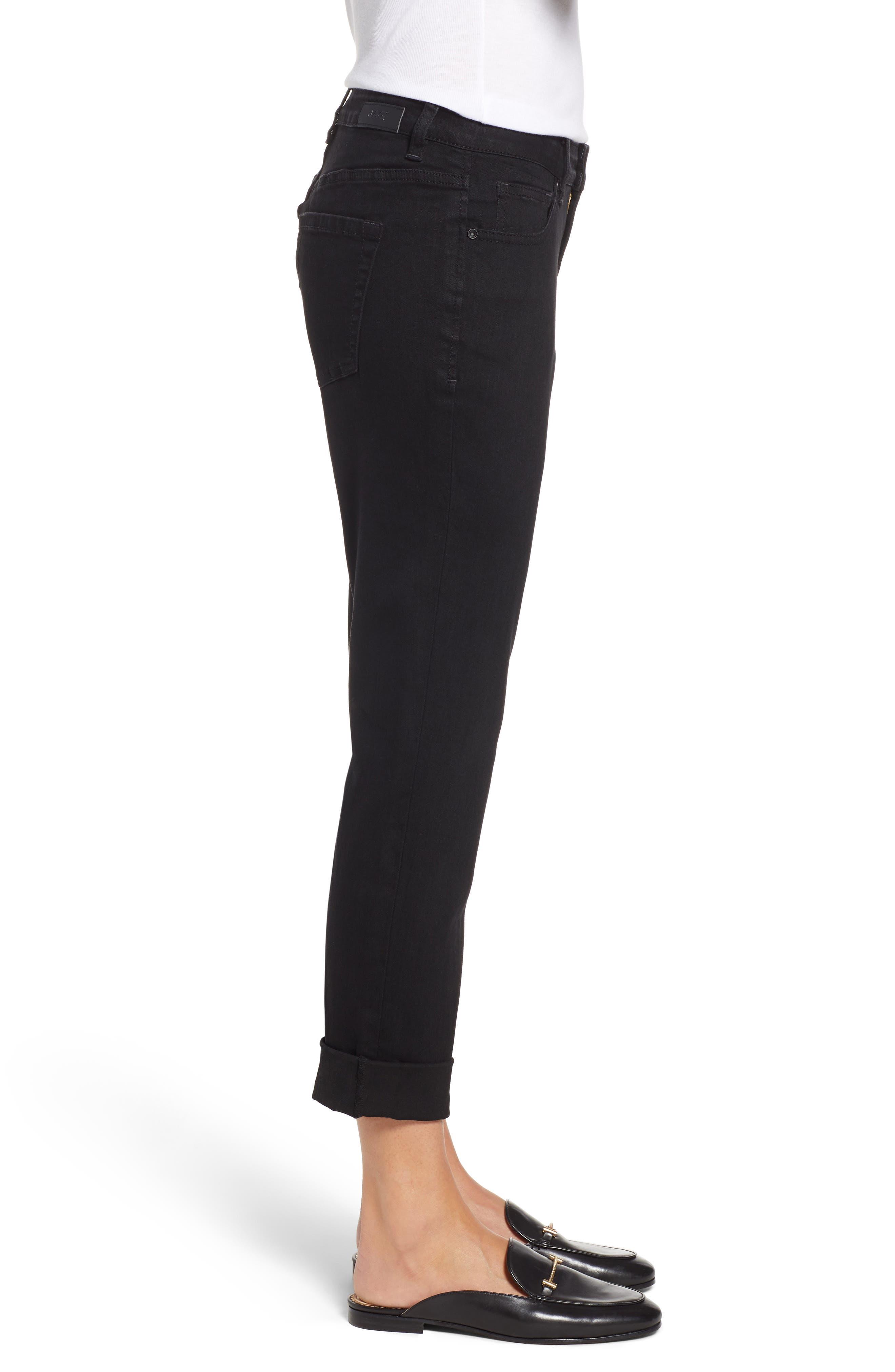 Carter Girlfriend Jeans,                             Alternate thumbnail 3, color,                             BLACK