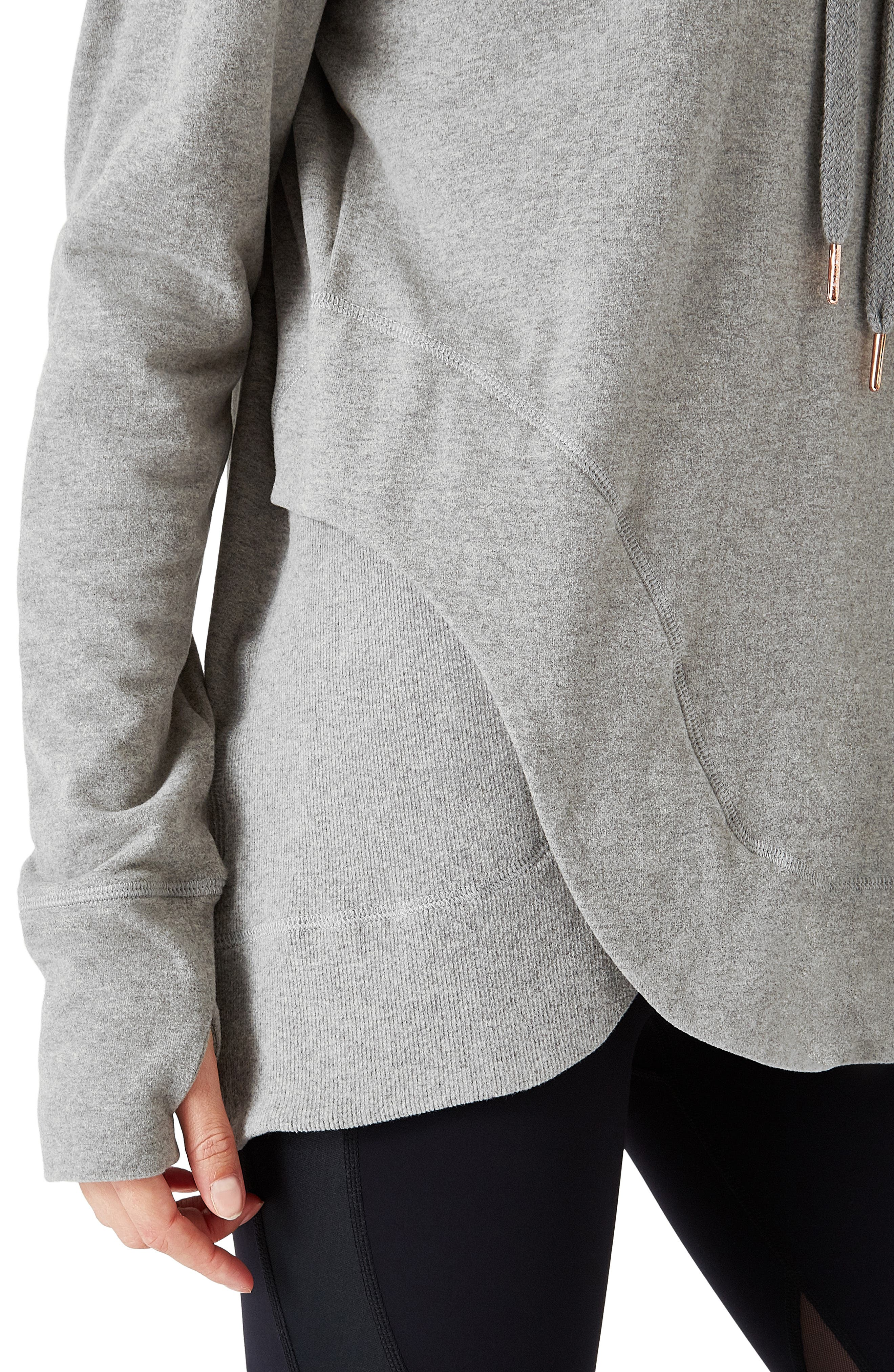 Invigorate Luxe Hoodie,                             Alternate thumbnail 3, color,                             LIGHT GREY MARL