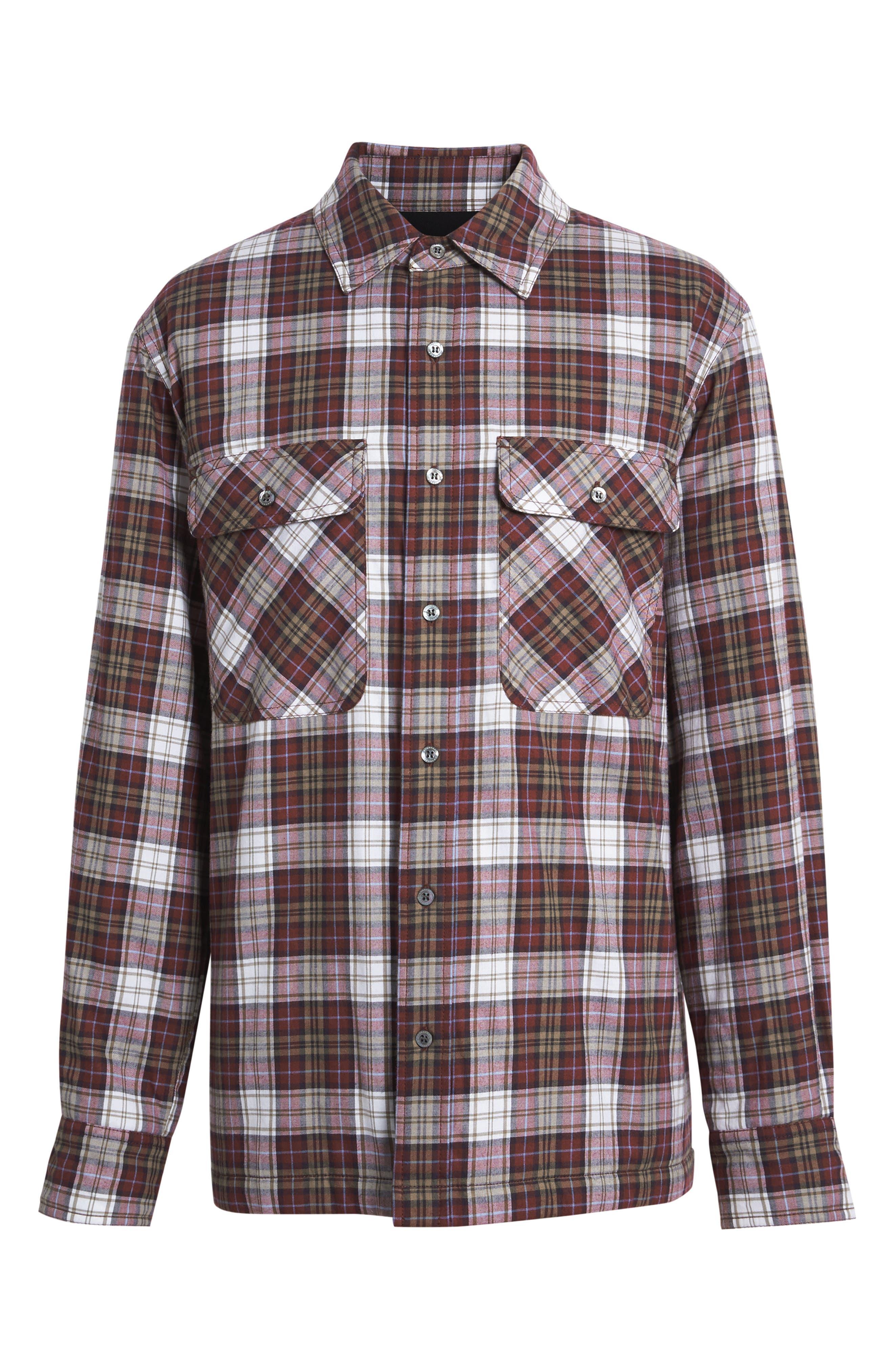 Barlow Plaid Flannel Shirt,                             Alternate thumbnail 5, color,                             600