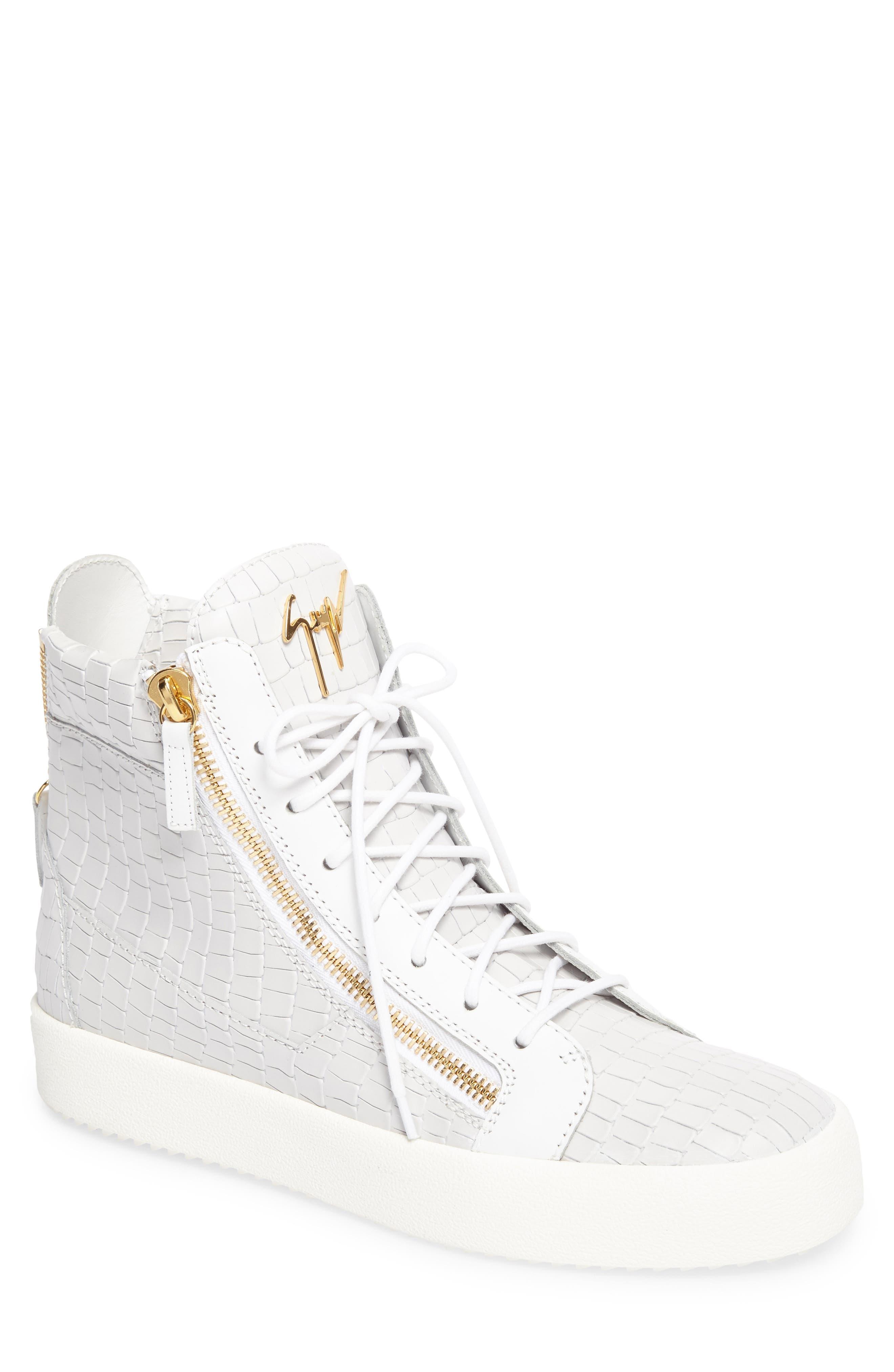 High-Top Sneaker,                             Main thumbnail 1, color,                             WHITE