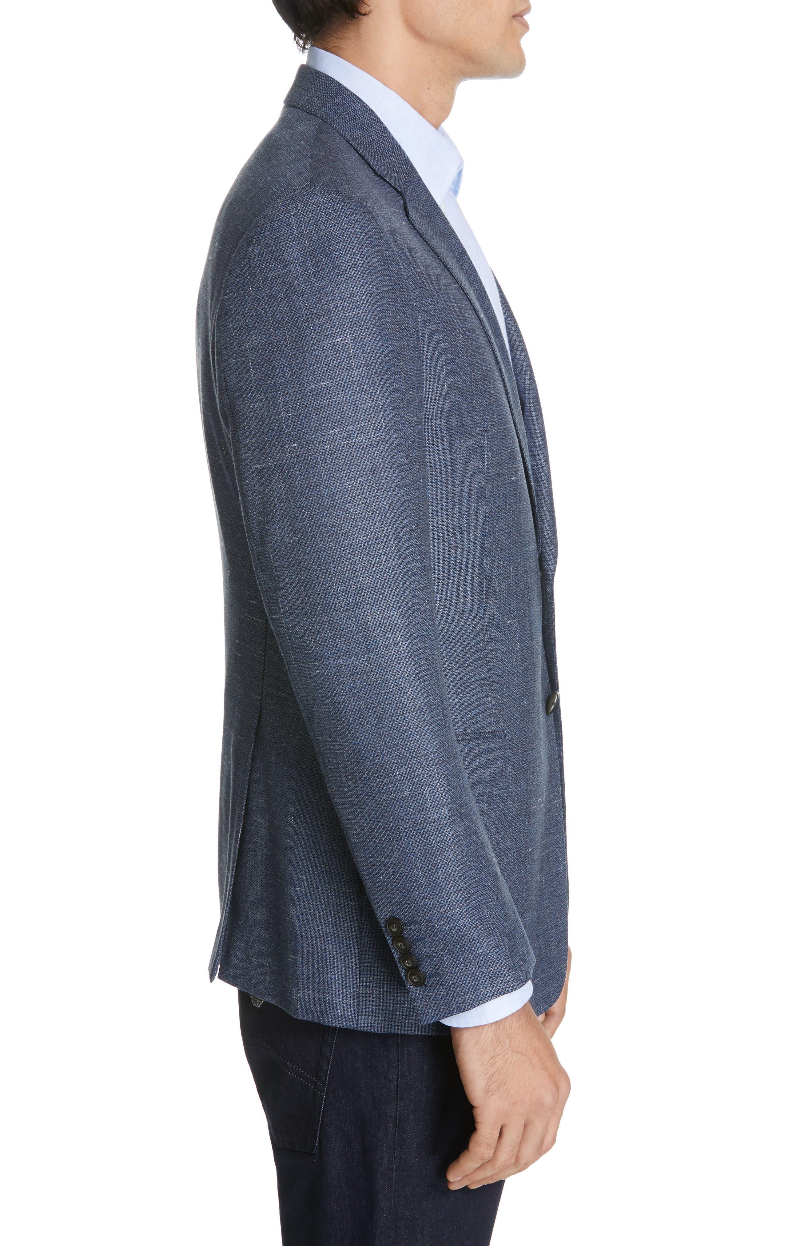 Trim Fit Wool Blend Sport Coat,                             Alternate thumbnail 3, color,                             FANCY BLUE