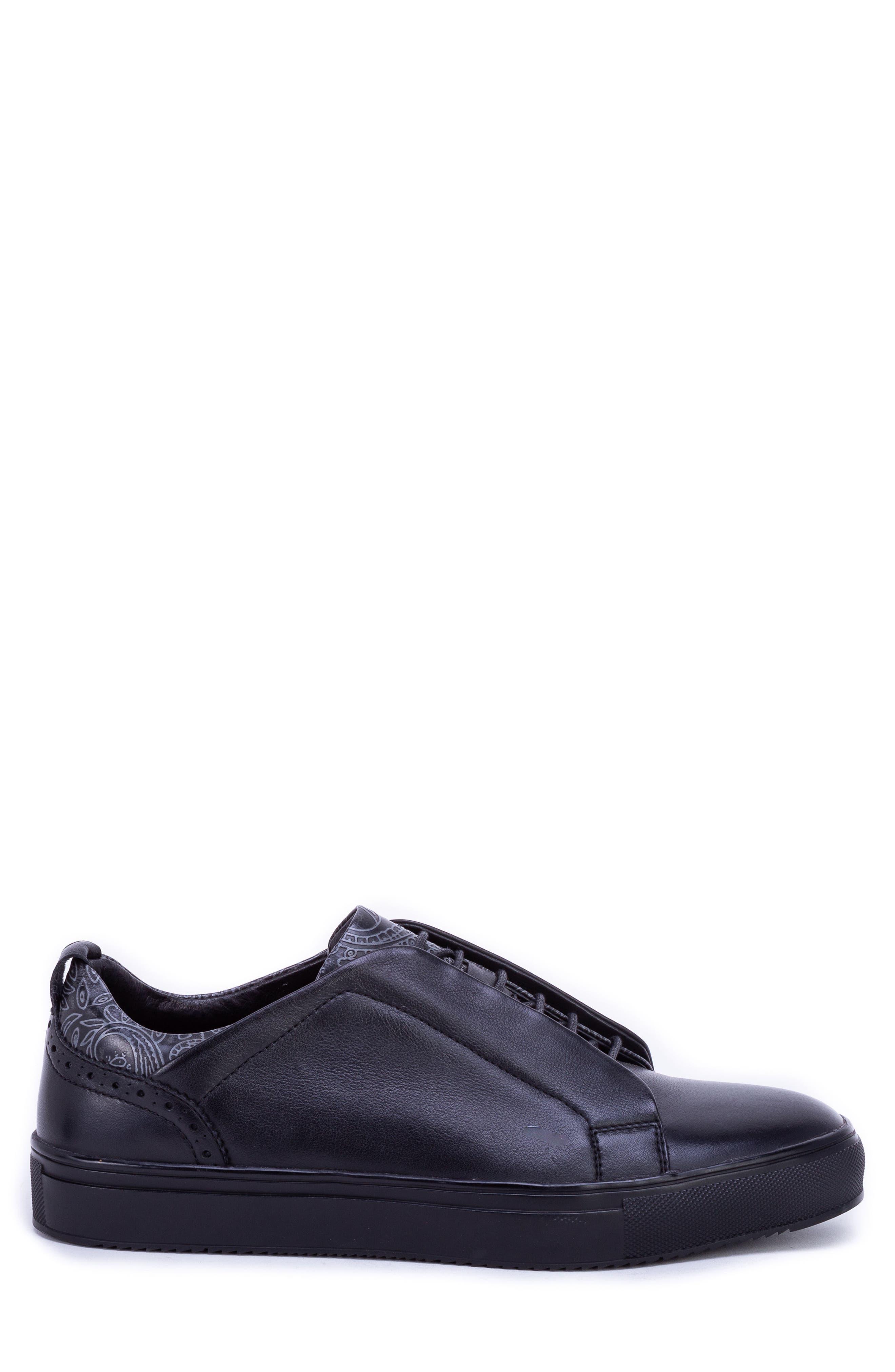 Sharpe Textured Sneaker,                             Alternate thumbnail 3, color,                             001