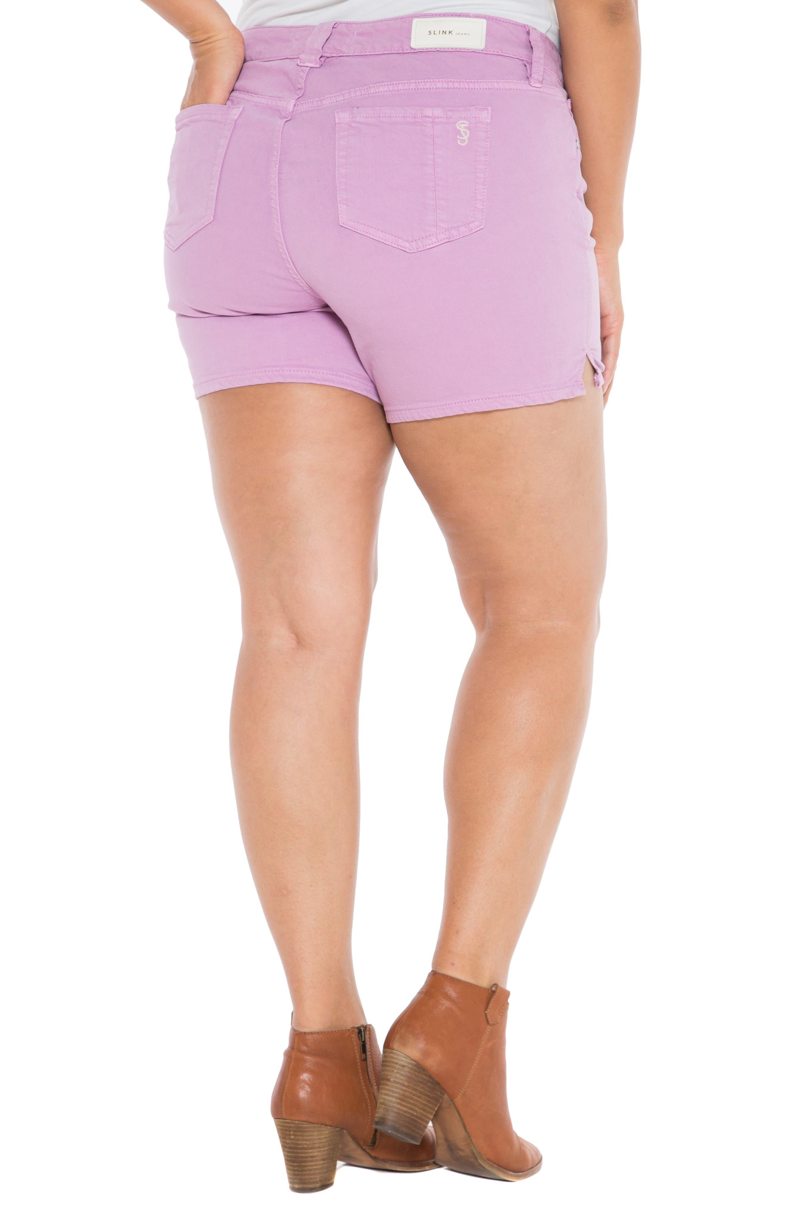 Camo Side Slit Shorts,                             Alternate thumbnail 2, color,                             MAUVE MIST