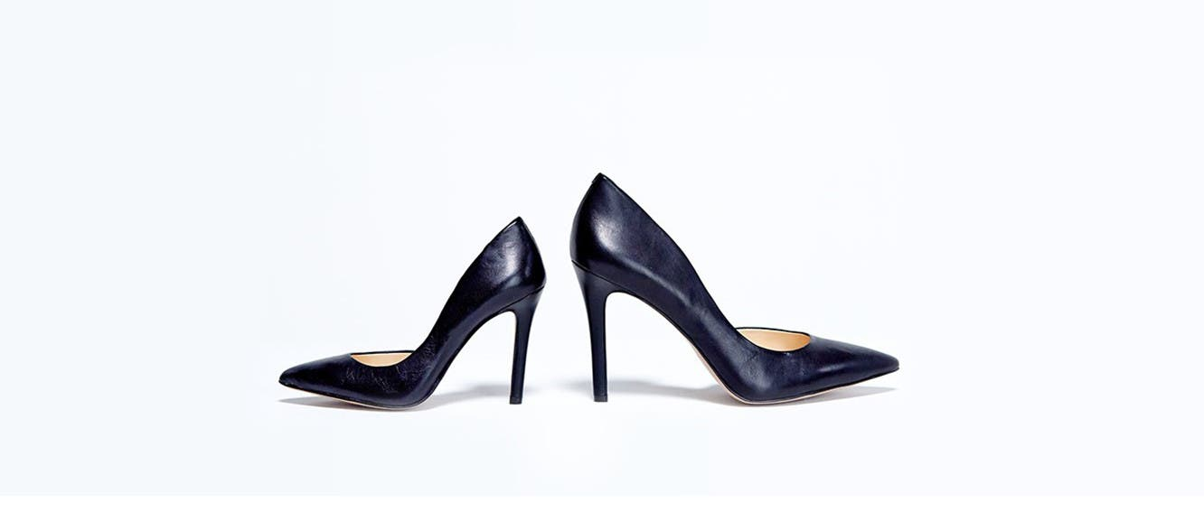 Women's shoes in extended sizes.