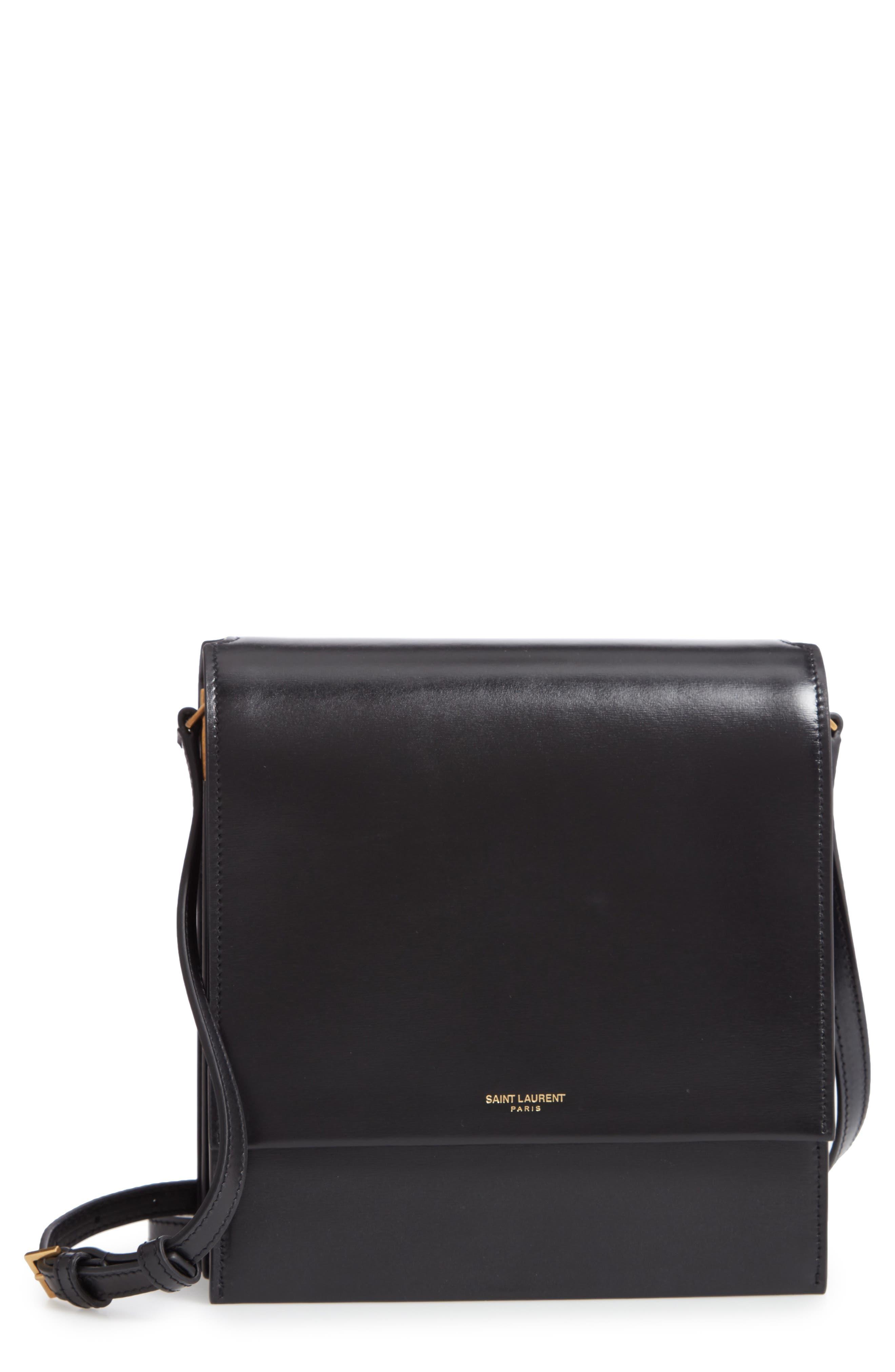 Sao Leather Shoulder Bag,                             Main thumbnail 1, color,                             NOIR