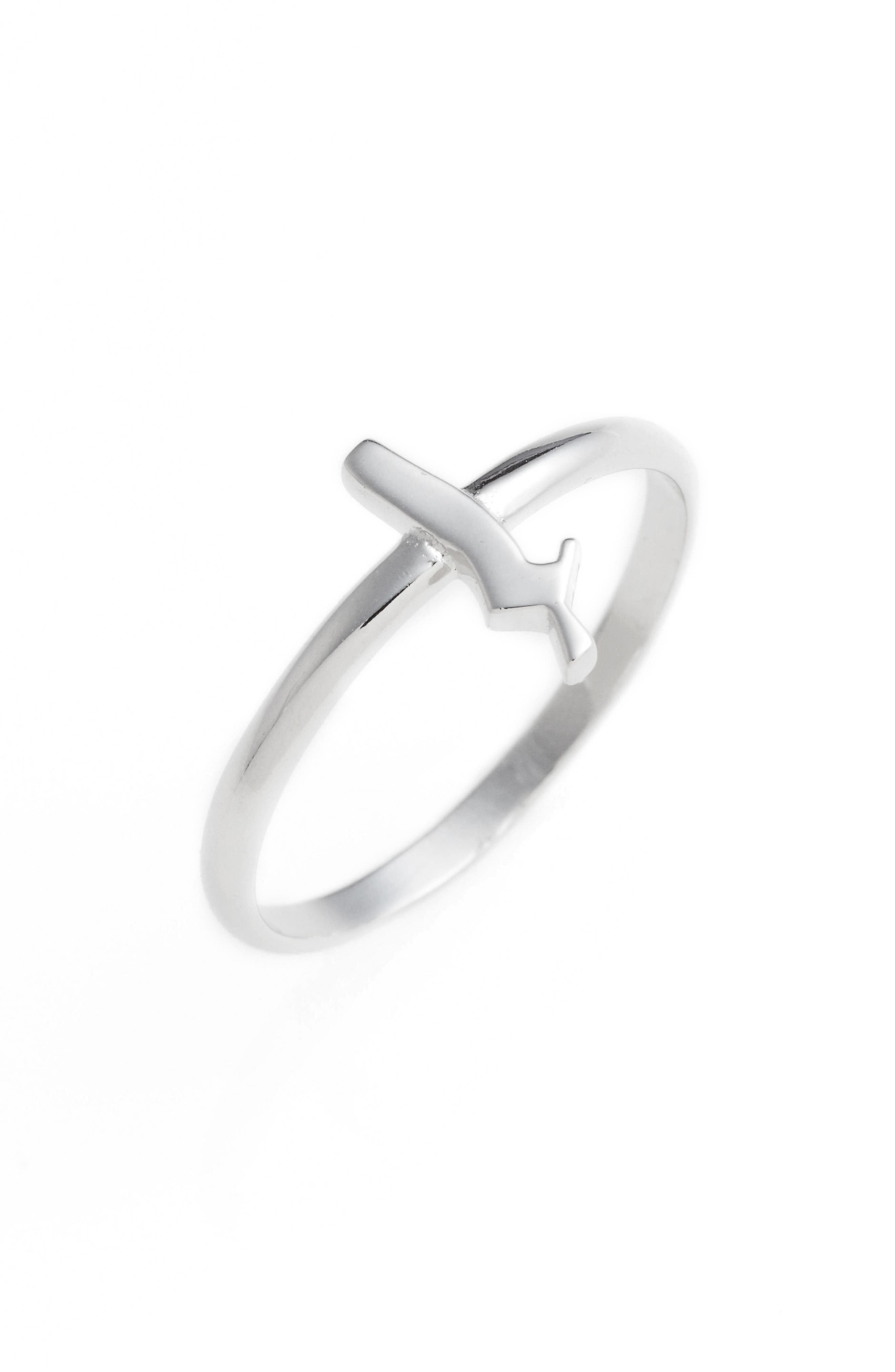 Gothic Initial Ring,                             Main thumbnail 7, color,