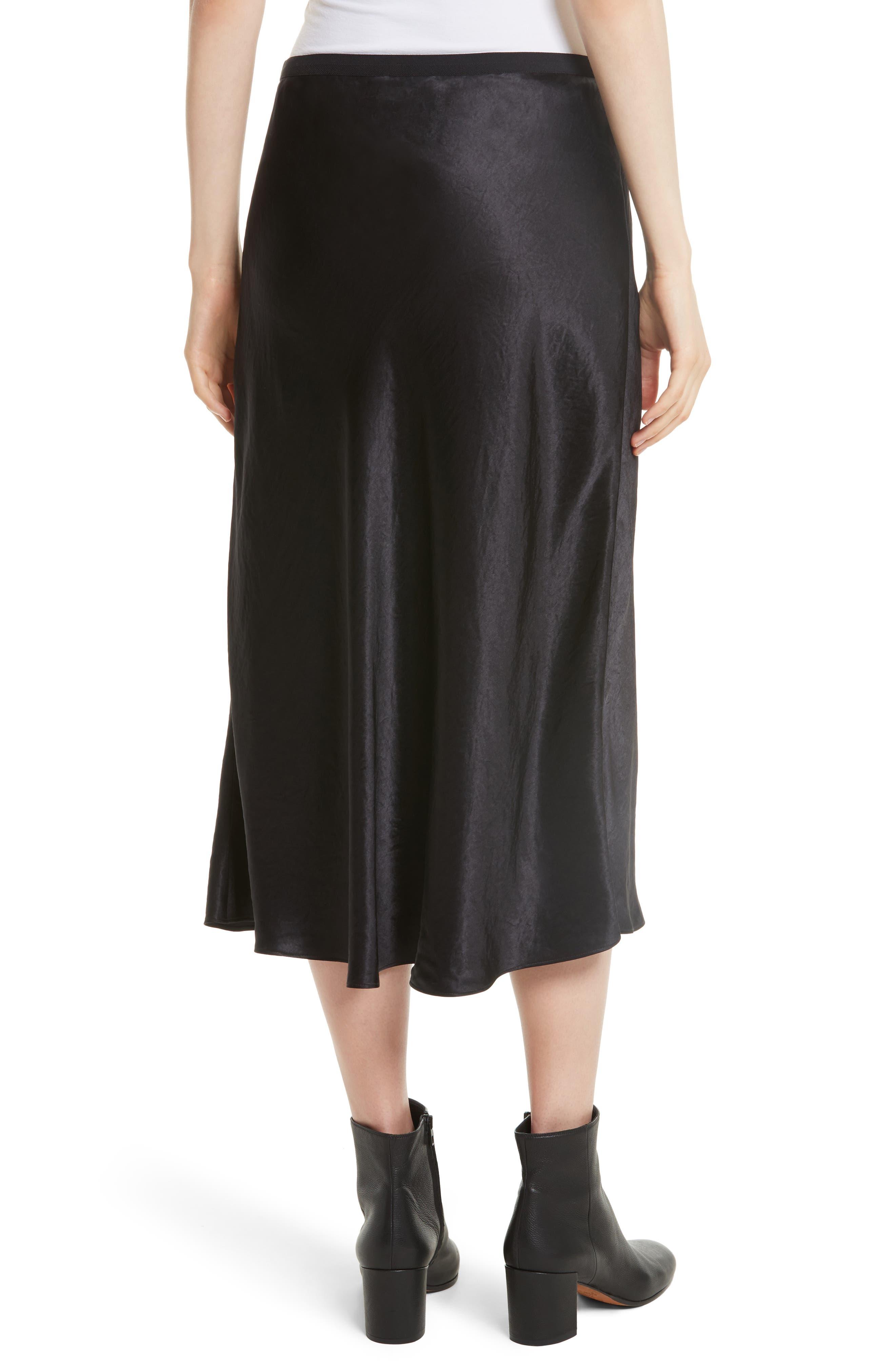 Elastic Waist Slip Skirt,                             Alternate thumbnail 2, color,                             001