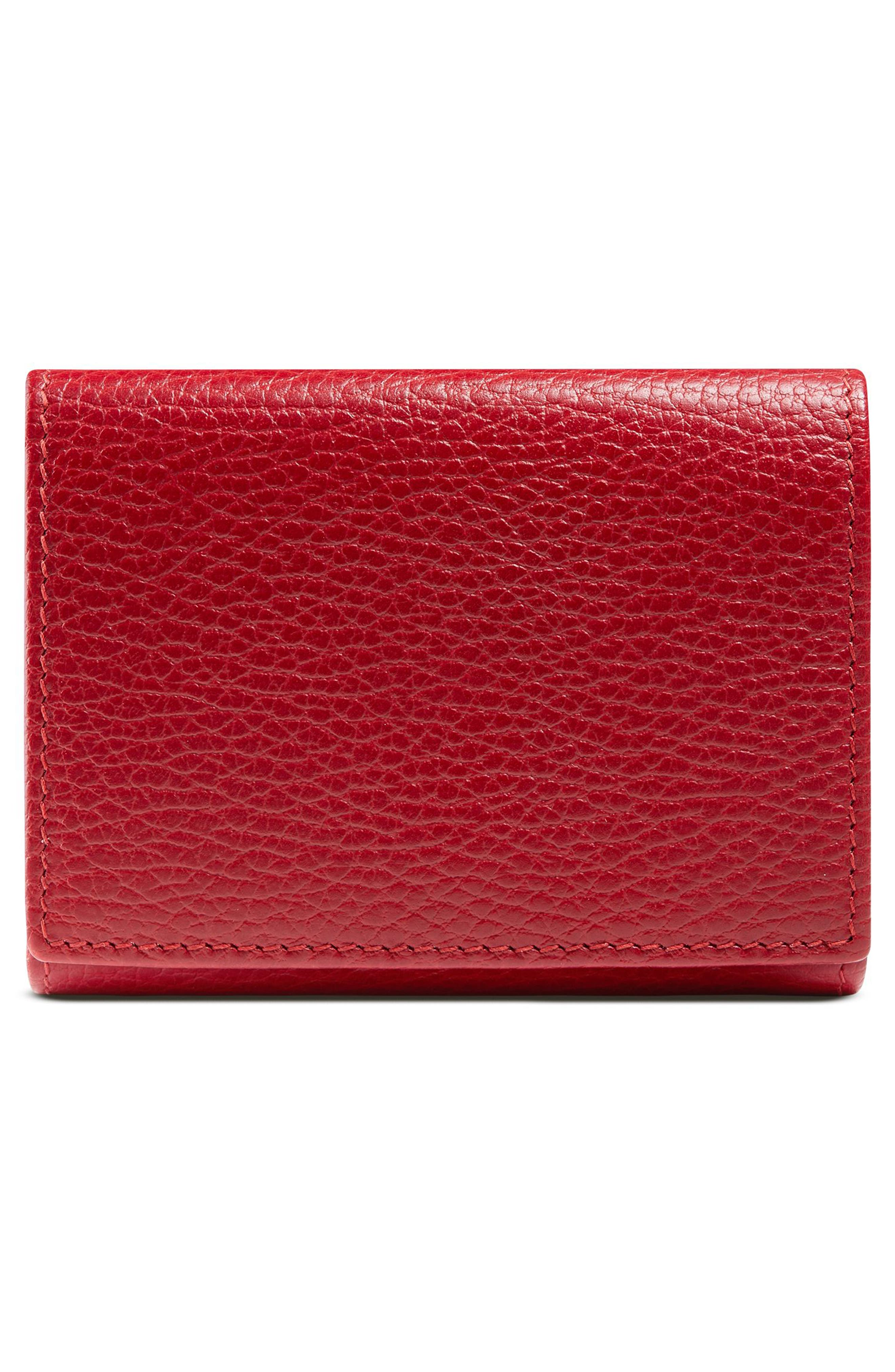 Petite Marmont Leather French Wallet,                             Alternate thumbnail 6, color,