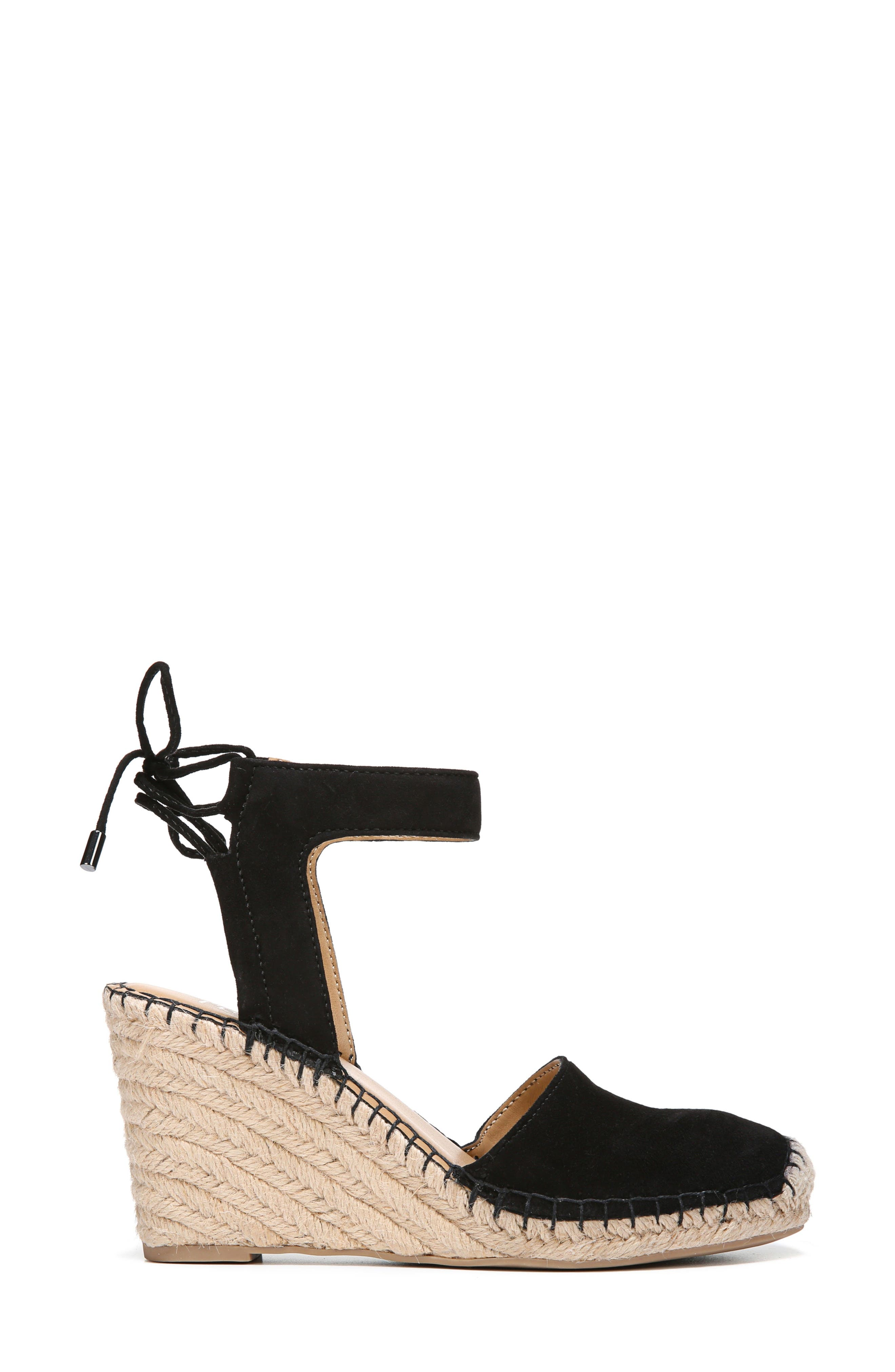 Mariska Espadrille Wedge Sandal,                             Alternate thumbnail 3, color,                             002