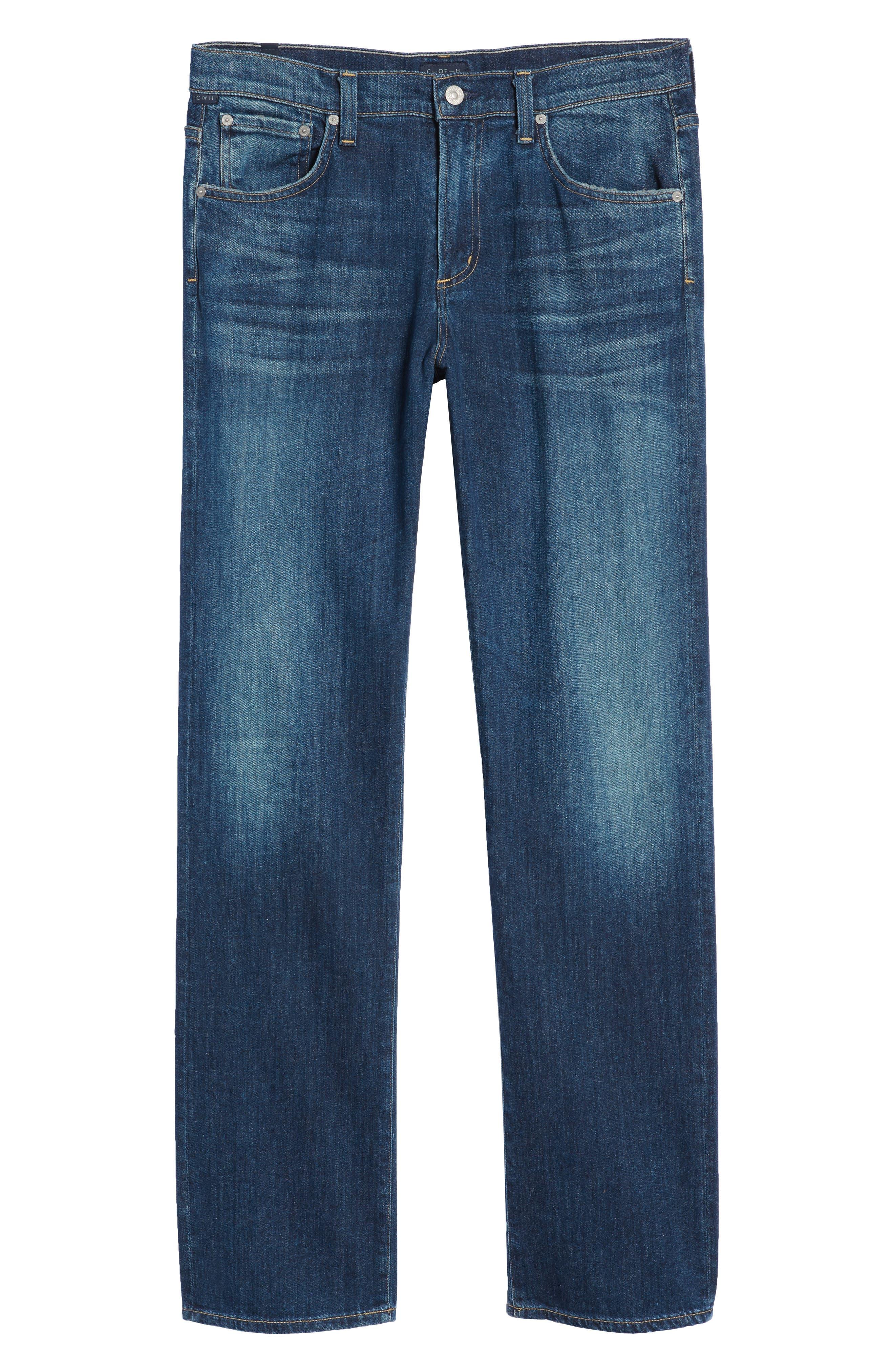 Sid Straight Leg Jeans,                             Alternate thumbnail 6, color,                             ADLER