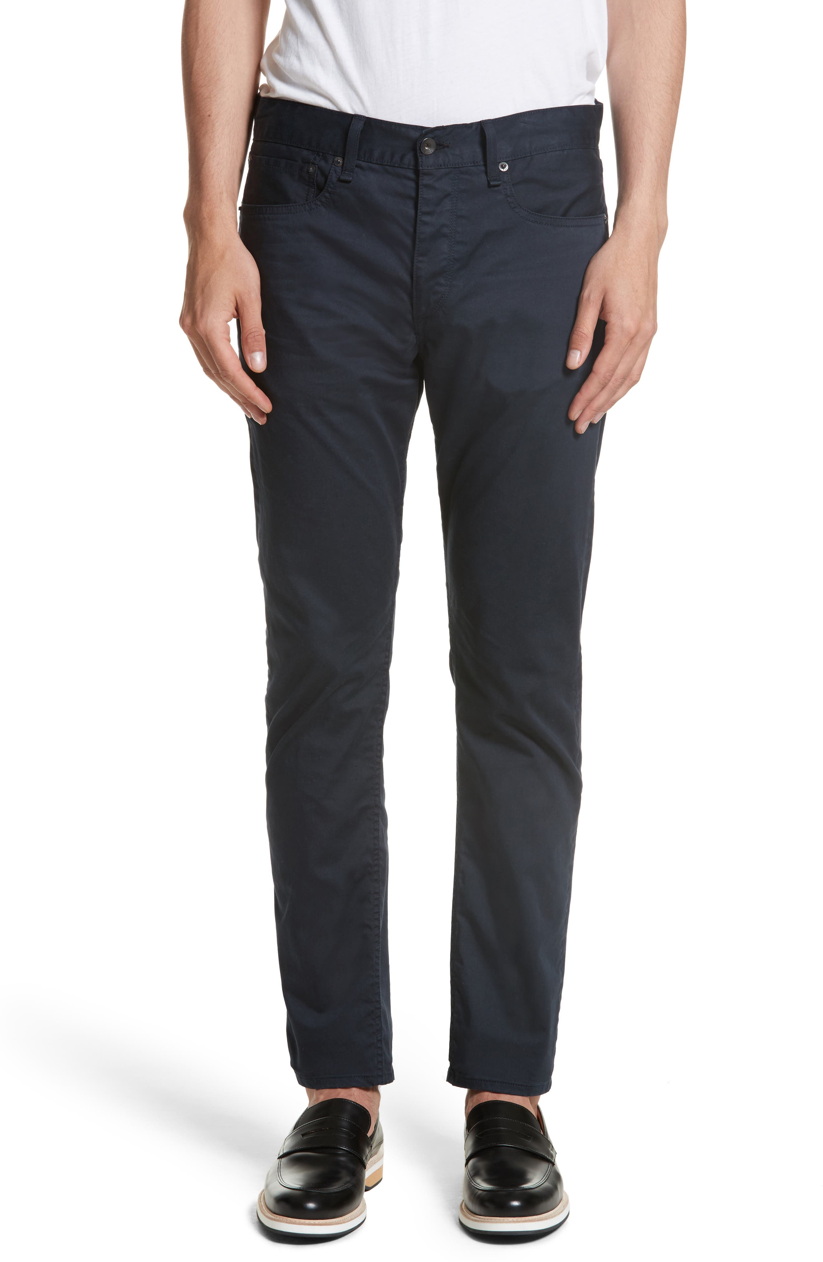 Fit 2 Five-Pocket Twill Pants,                         Main,                         color, NAVY