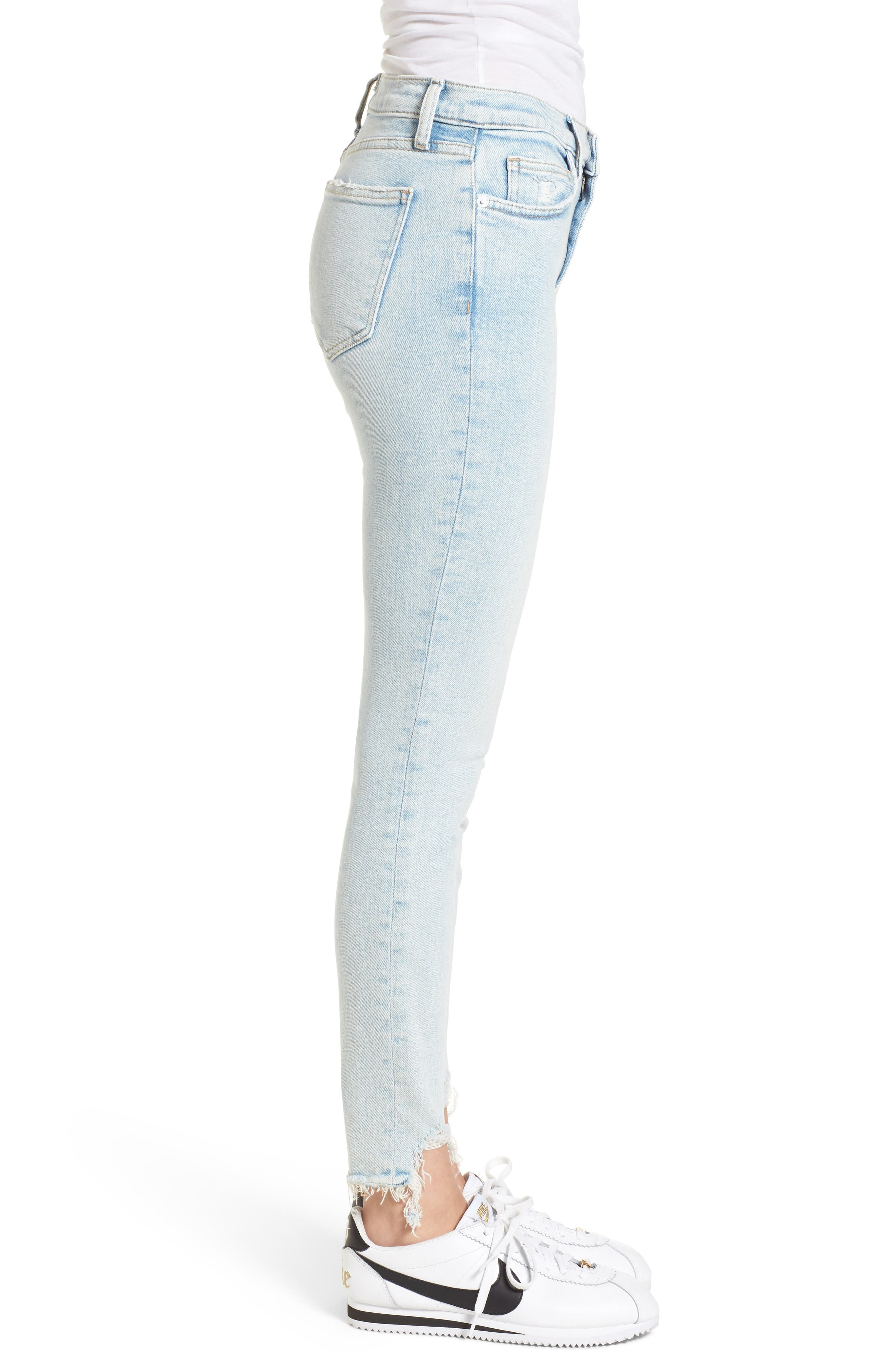 The High Waist Ankle Skinny Jeans,                             Alternate thumbnail 3, color,                             465