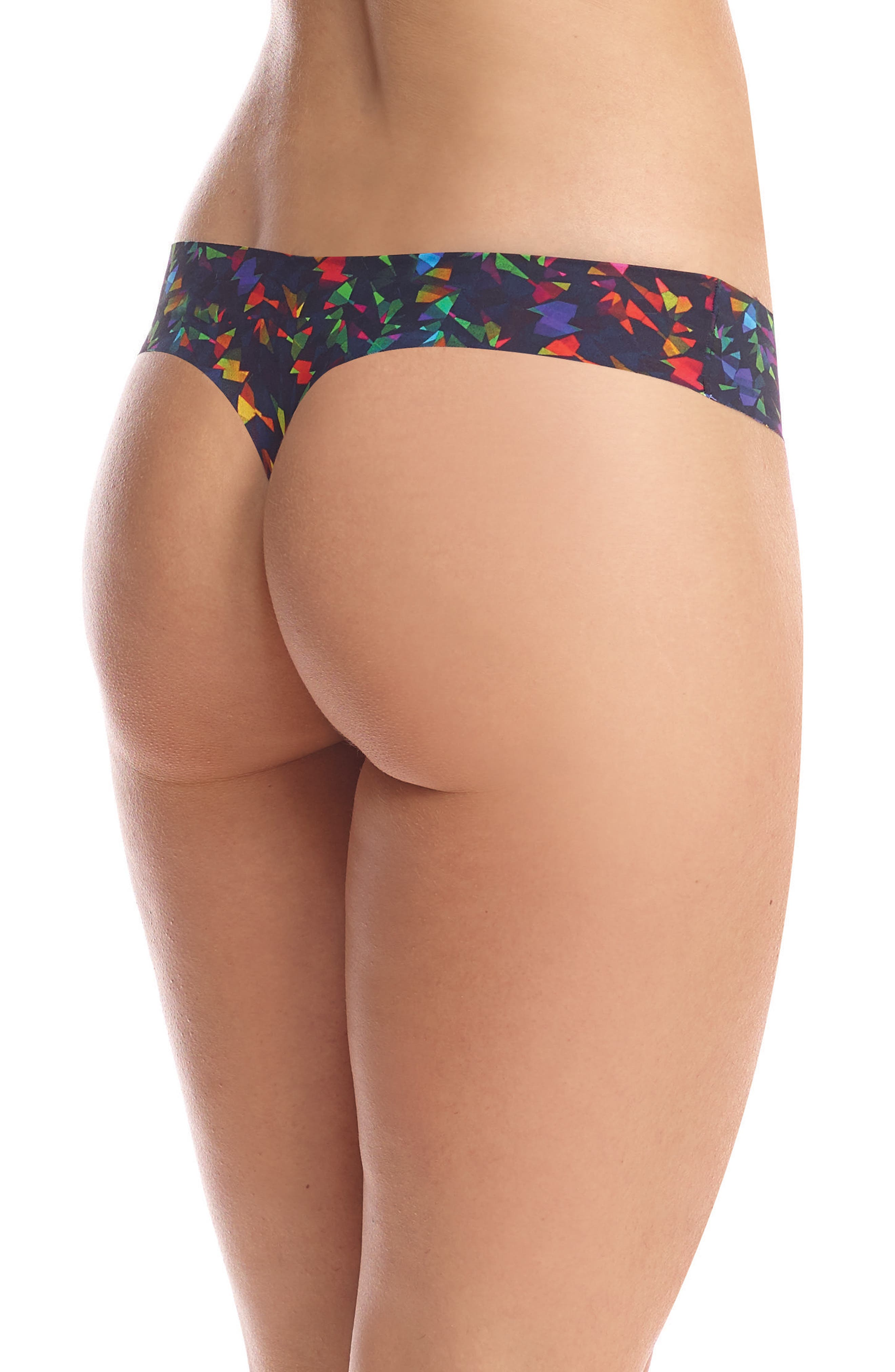 Print Microfiber Thong,                             Alternate thumbnail 99, color,