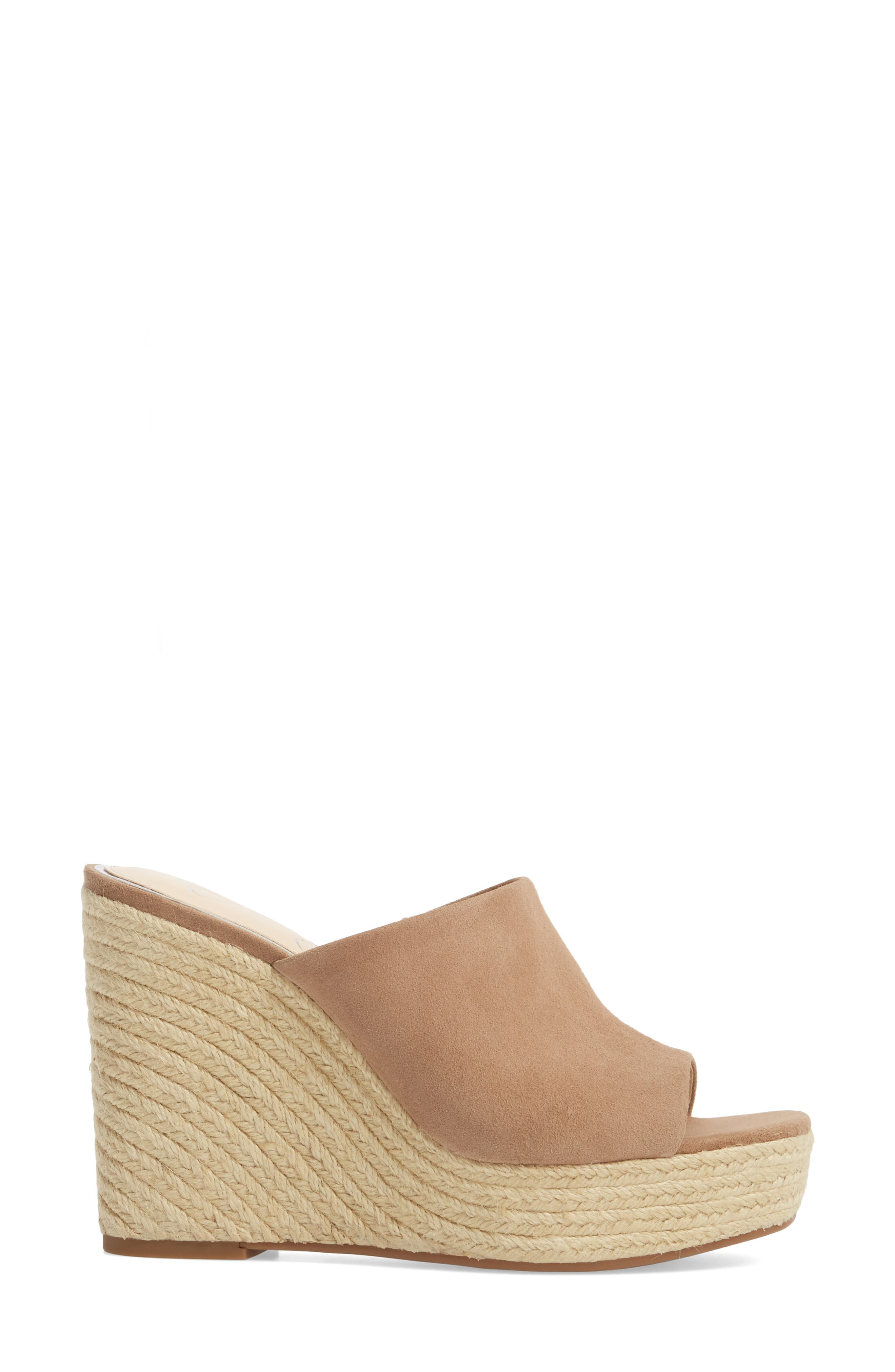 Sirella Platform Wedge Slide Sandal,                             Alternate thumbnail 8, color,
