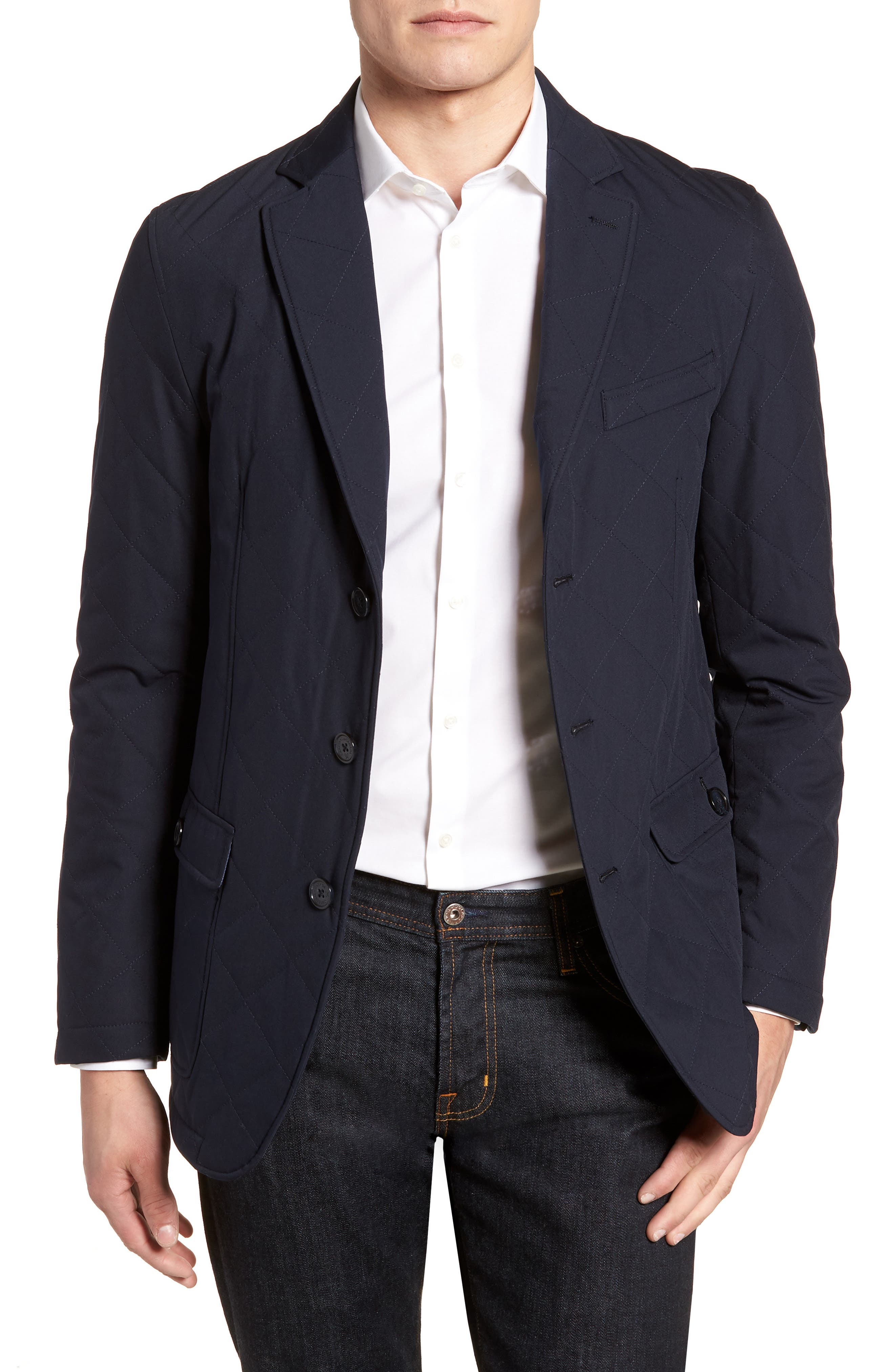 Classic Fit Quilted Blazer,                             Main thumbnail 2, color,
