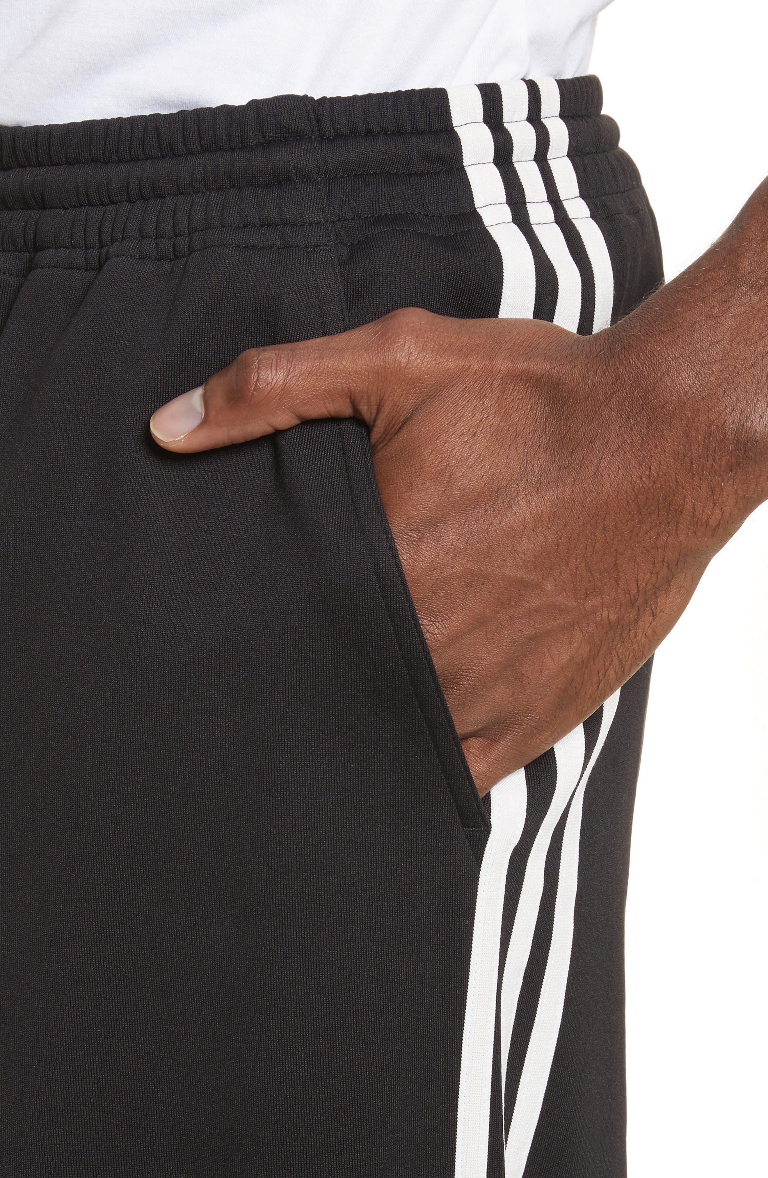 x adidas Wide Leg Track Pants,                             Alternate thumbnail 4, color,                             001