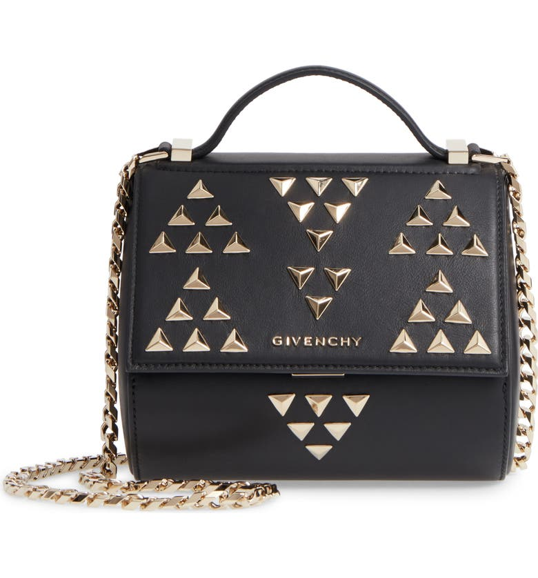 d36769e196ce Givenchy Pandora Box Calfskin Leather Top Handle Satchel