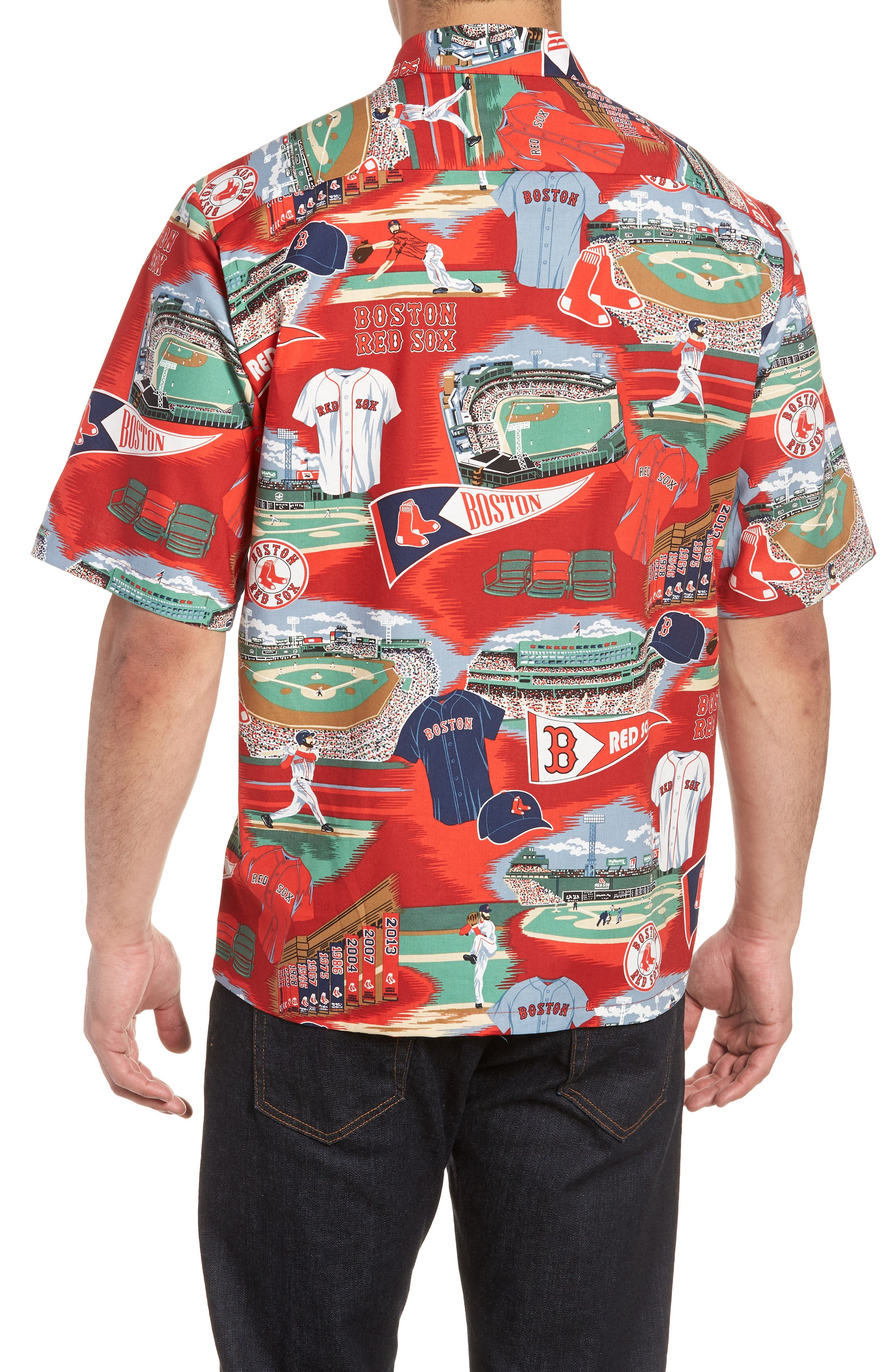 Boston Red Sox Classic Fit Camp Shirt,                             Alternate thumbnail 2, color,                             115