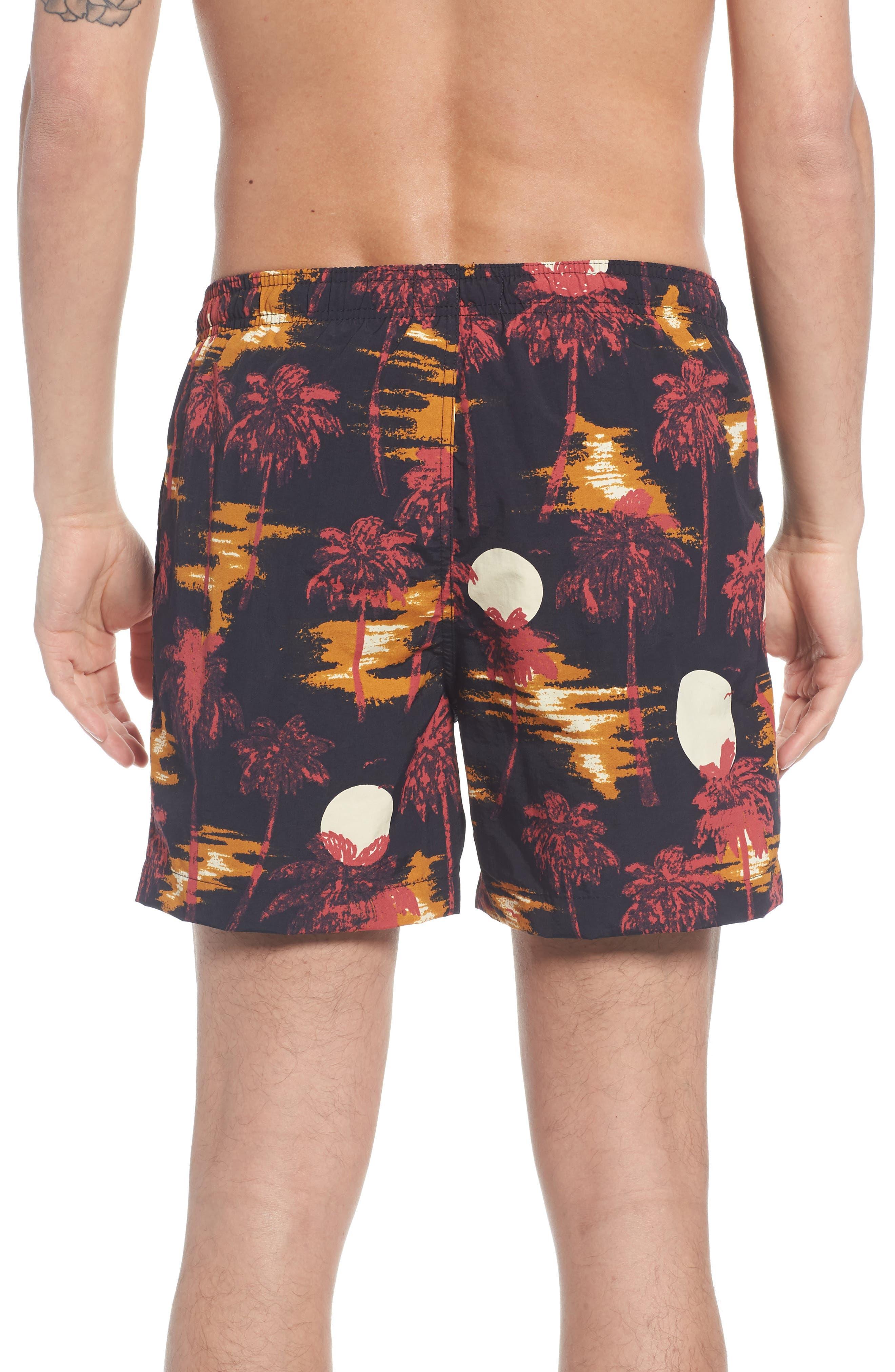 Zack Hawaii Swim Trunks,                             Alternate thumbnail 2, color,                             001