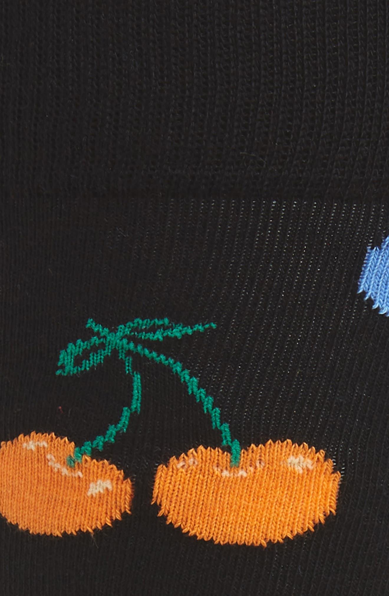 Cherry Socks,                             Alternate thumbnail 2, color,                             BLACK