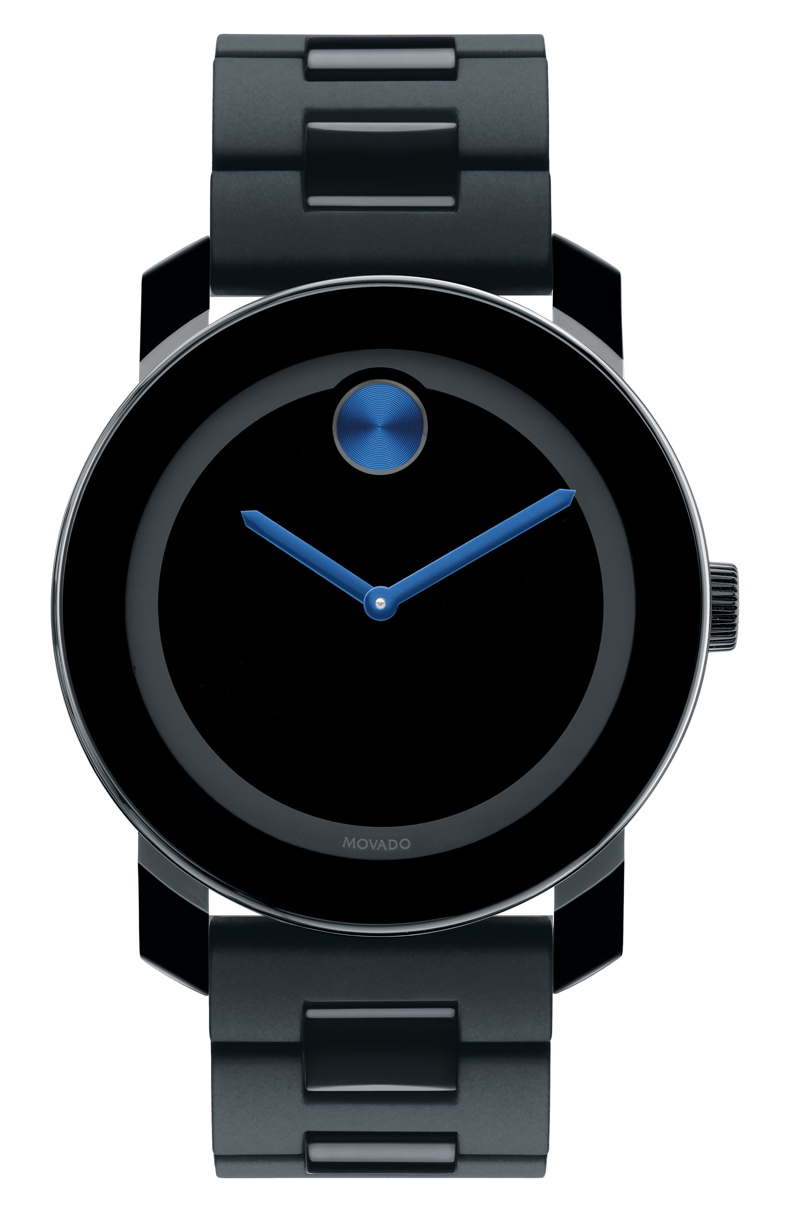 'Large Bold' Bracelet Watch, 42mm,                             Alternate thumbnail 2, color,                             BLACK