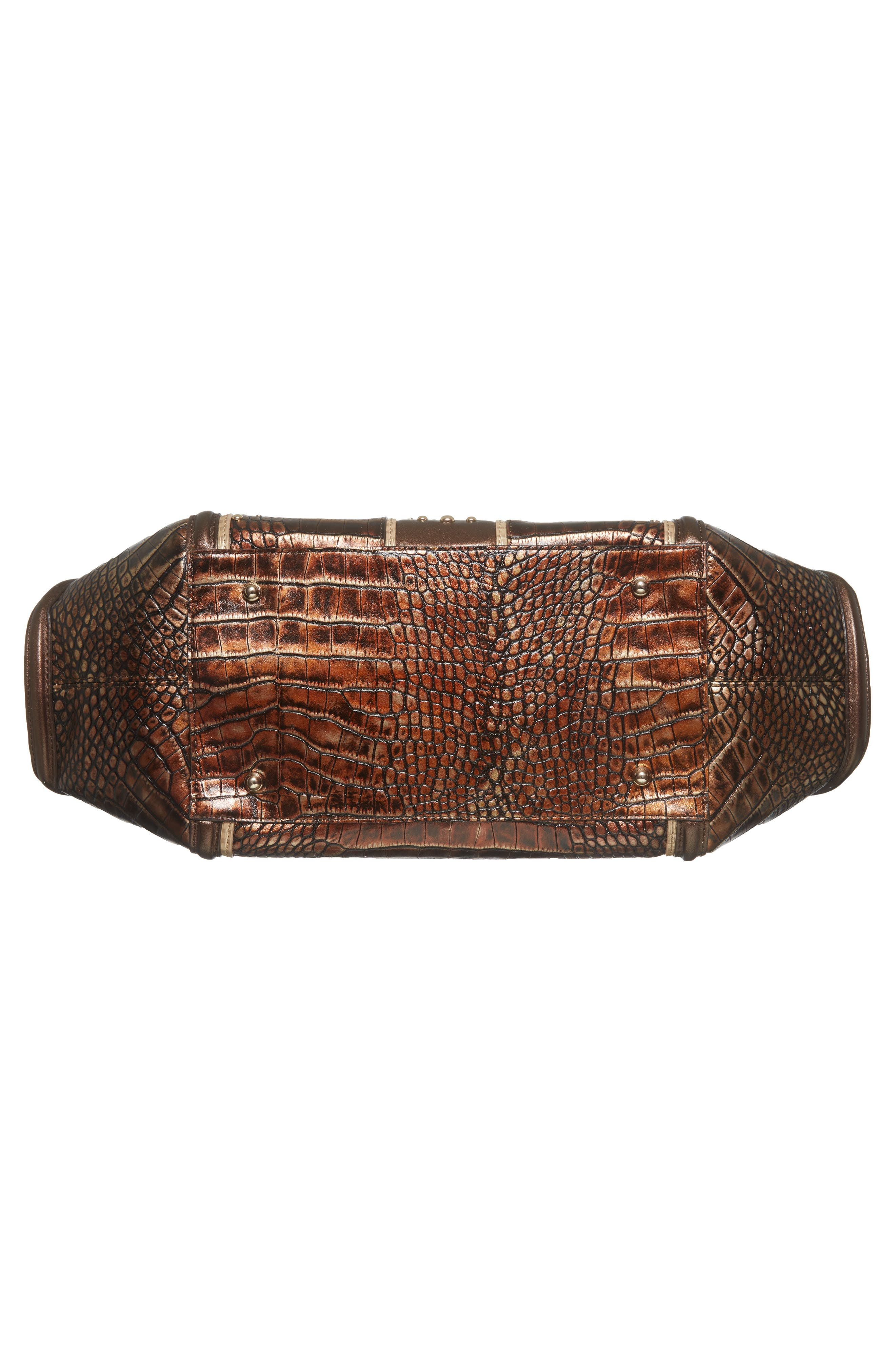 Milan Arden Embossed Leather Satchel,                             Alternate thumbnail 6, color,                             200