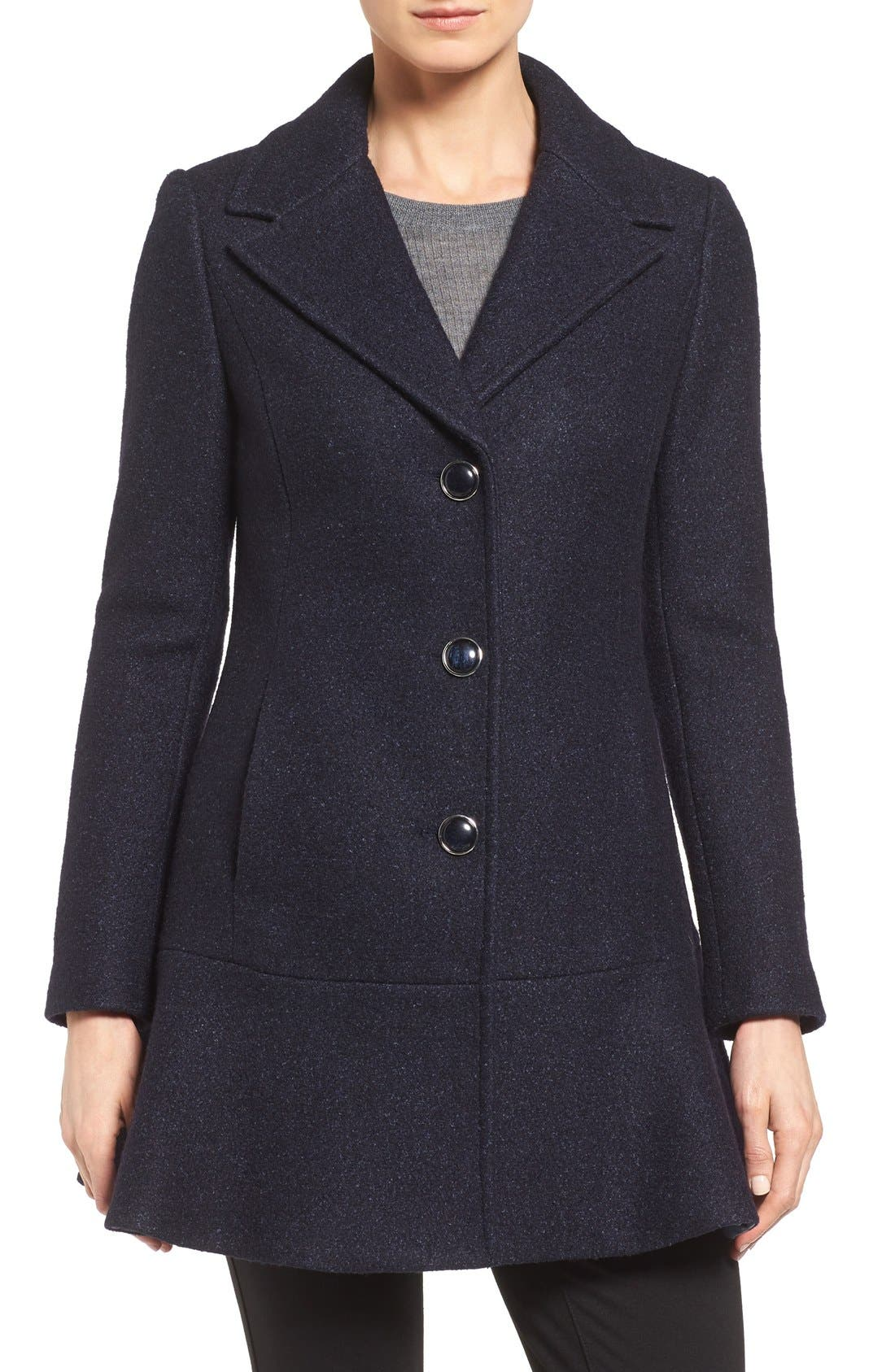 Notch Lapel Peplum Coat,                             Main thumbnail 12, color,