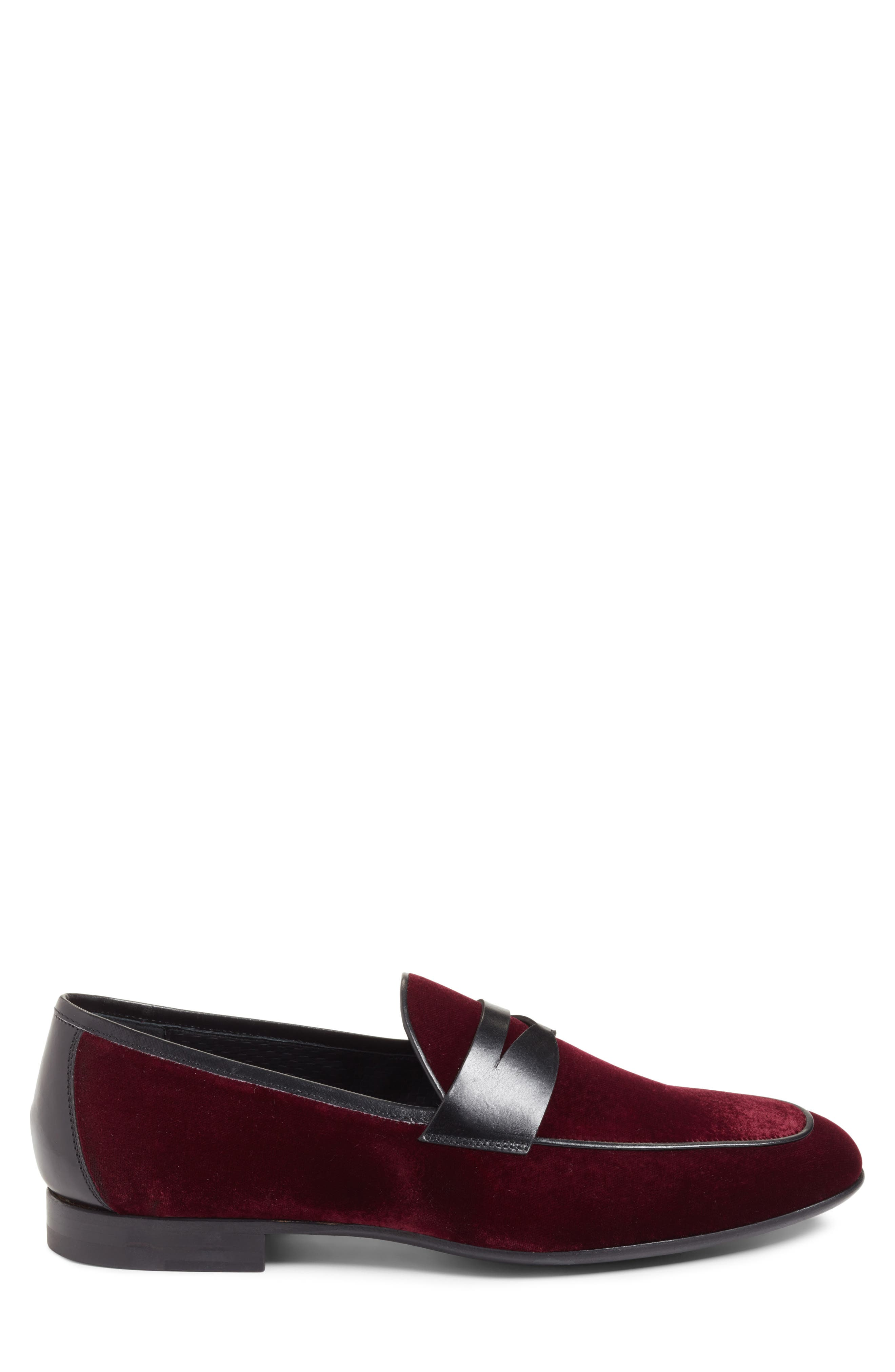 Dorado Penny Loafer,                             Alternate thumbnail 3, color,                             BURGUNDY