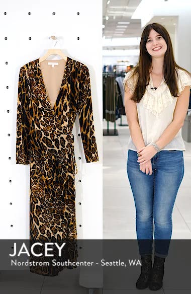 Gwyneth Velvet Wrap Midi Dress, sales video thumbnail