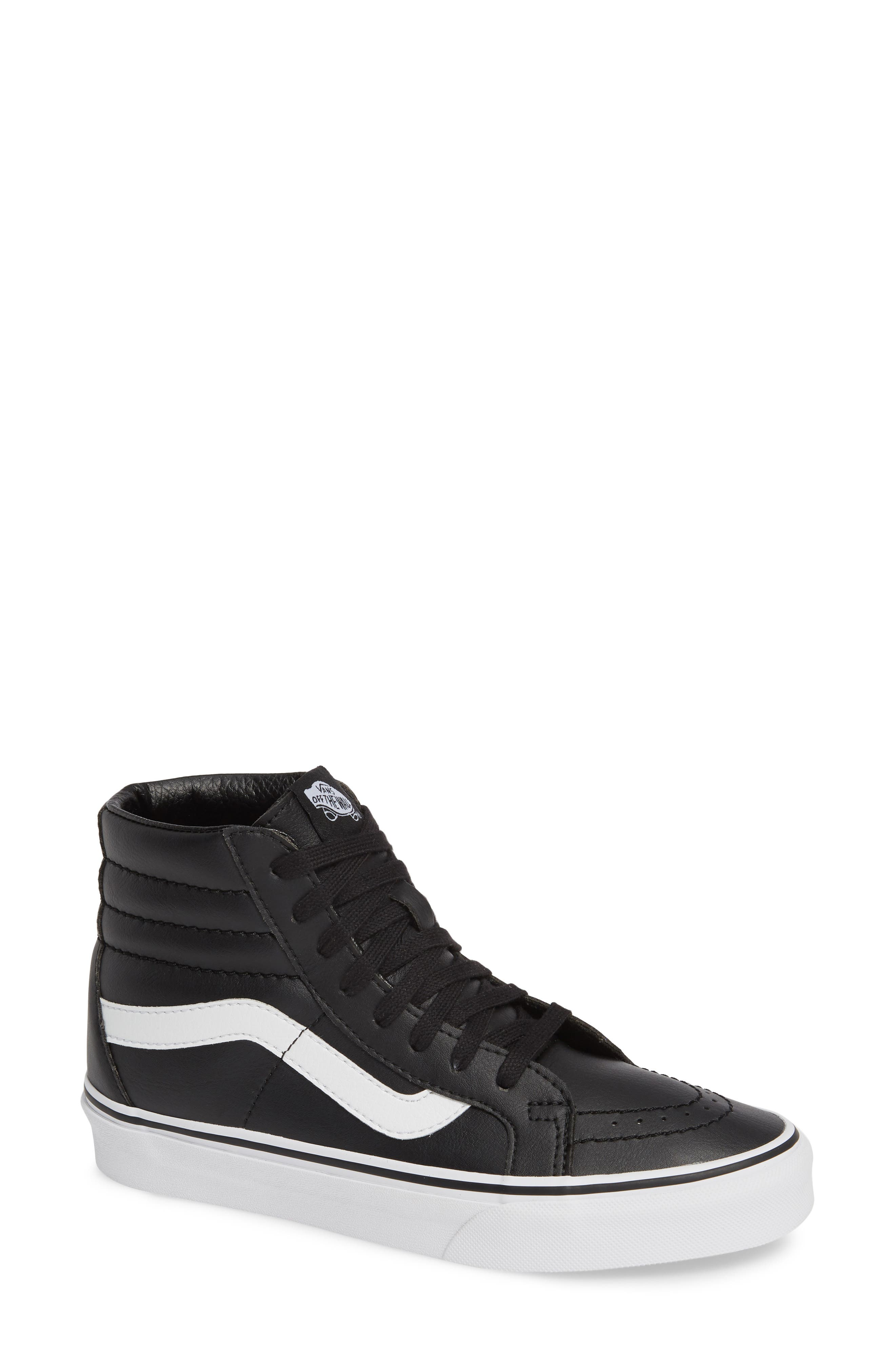 VANS,                             'Sk8-Hi Reissue' Sneaker,                             Main thumbnail 1, color,                             BLACK/ TRUE WHITE