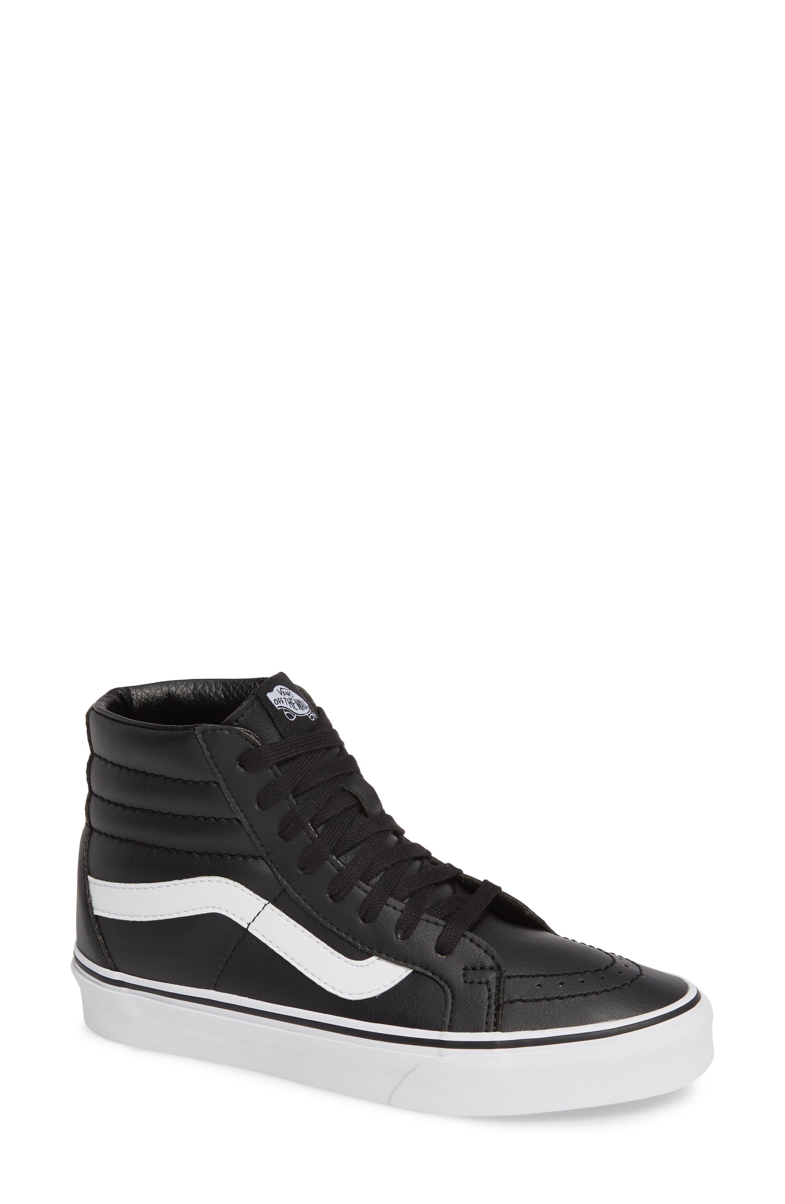 VANS 'Sk8-Hi Reissue' Sneaker, Main, color, BLACK/ TRUE WHITE