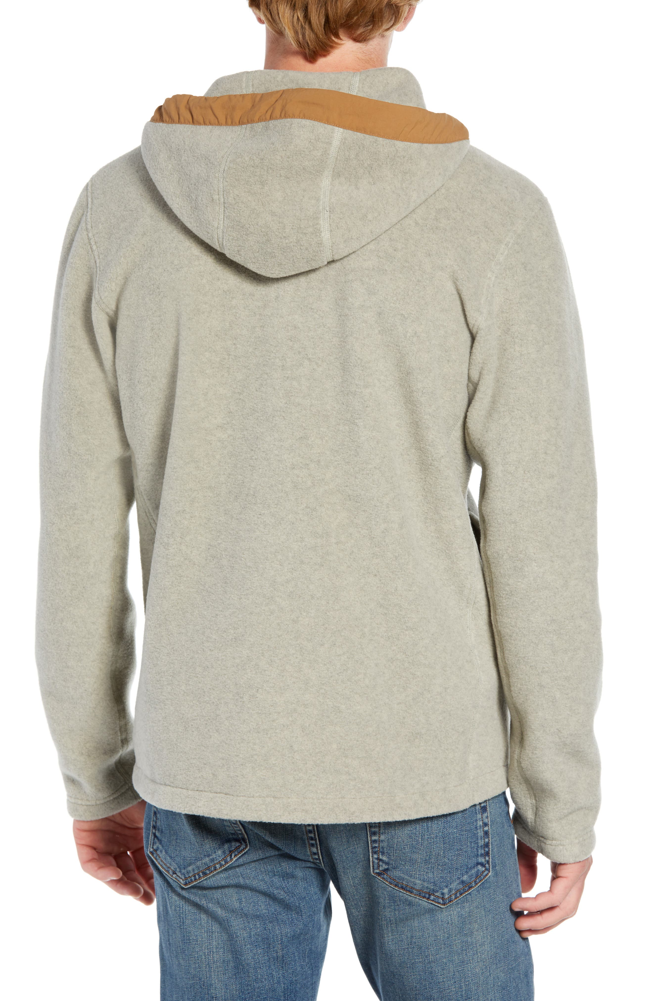 Pyrite Sweater Knit Fleece Hoodie,                             Alternate thumbnail 2, color,                             GRANITE BLUFF TAN HEATHER