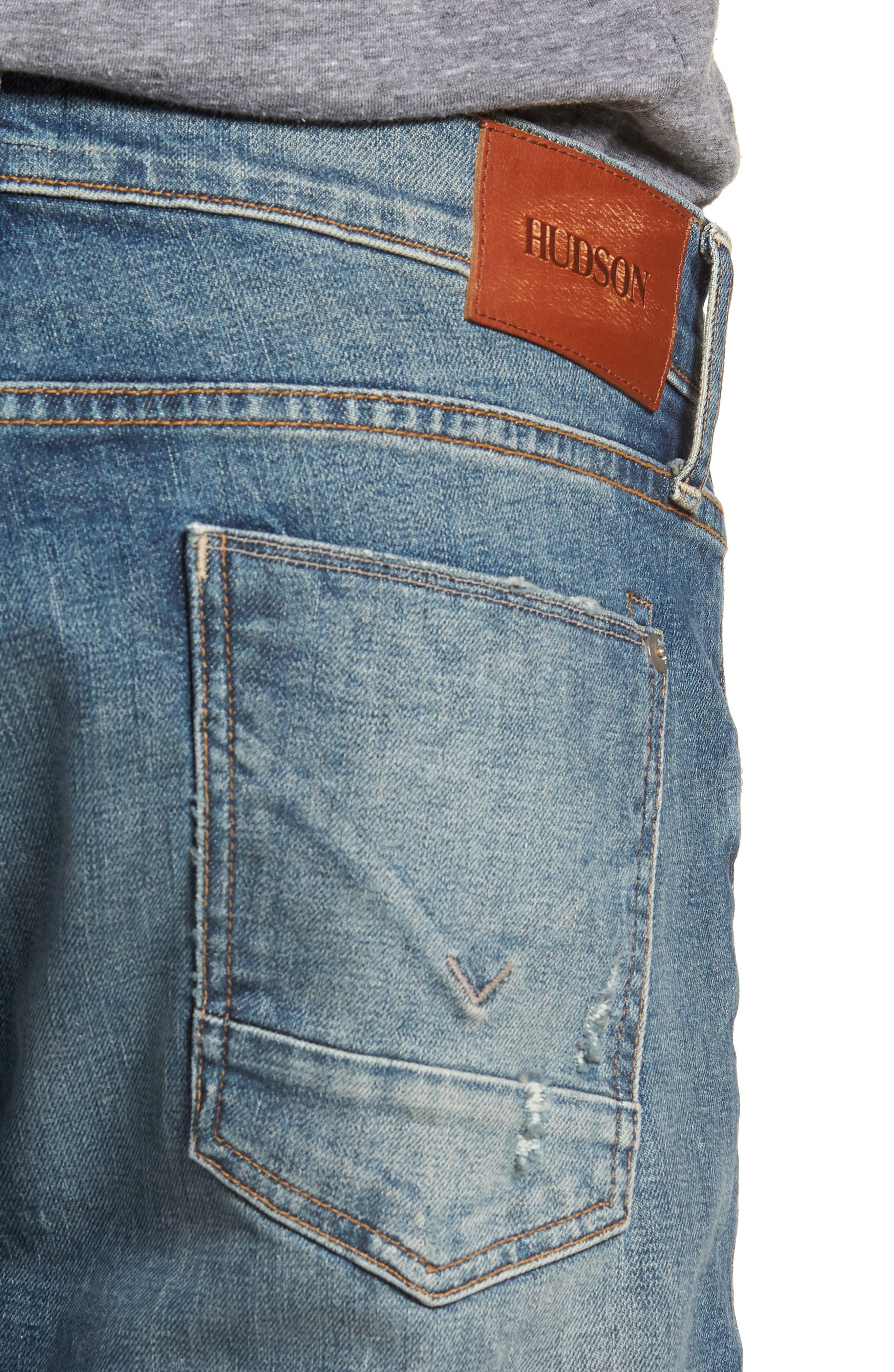 Byron Slim Straight Fit Jeans,                             Alternate thumbnail 4, color,                             HANG UP