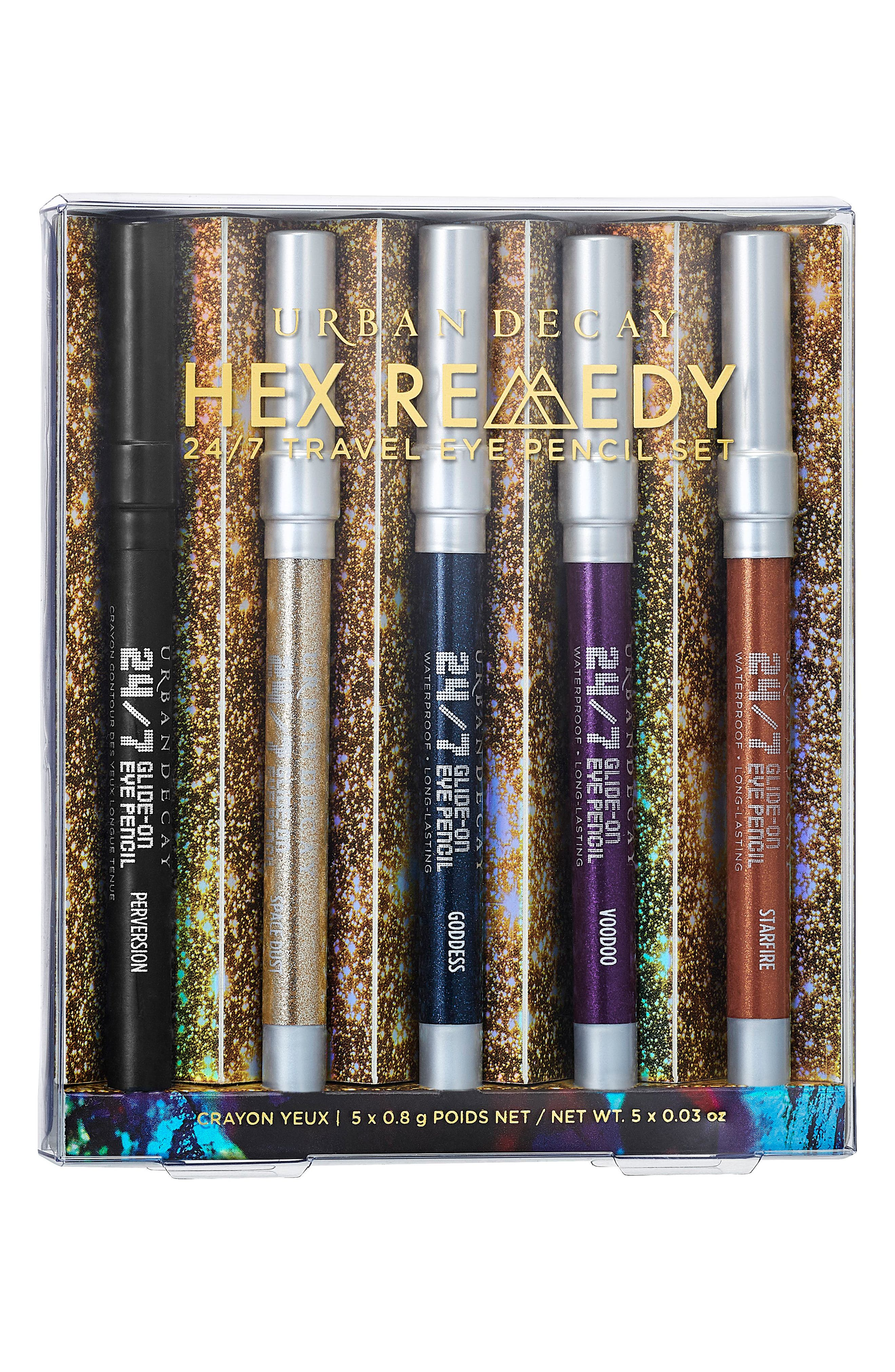 Hex Remedy Travel 24/7 Glide-On Eye Pencil Set,                         Main,                         color, NO COLOR