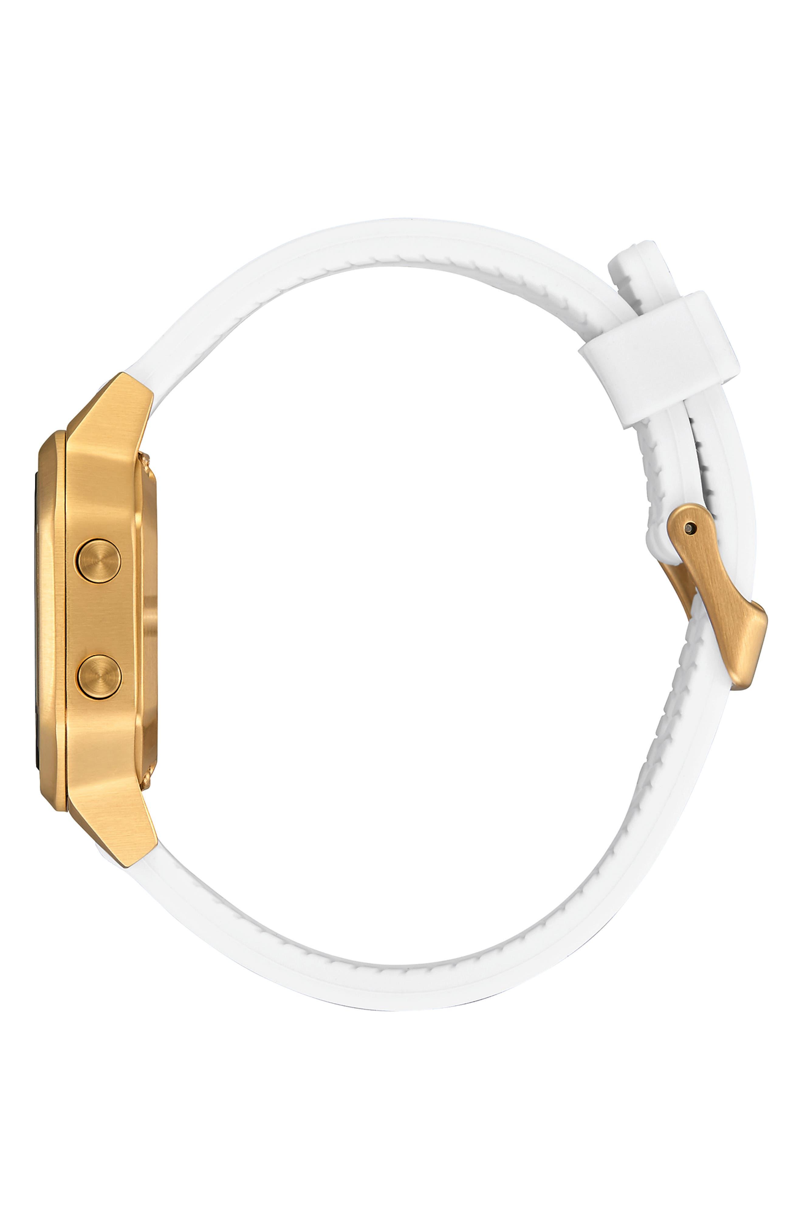 Siren Digital Watch, 36mm,                             Alternate thumbnail 3, color,                             WHITE/ BLACK/ GOLD