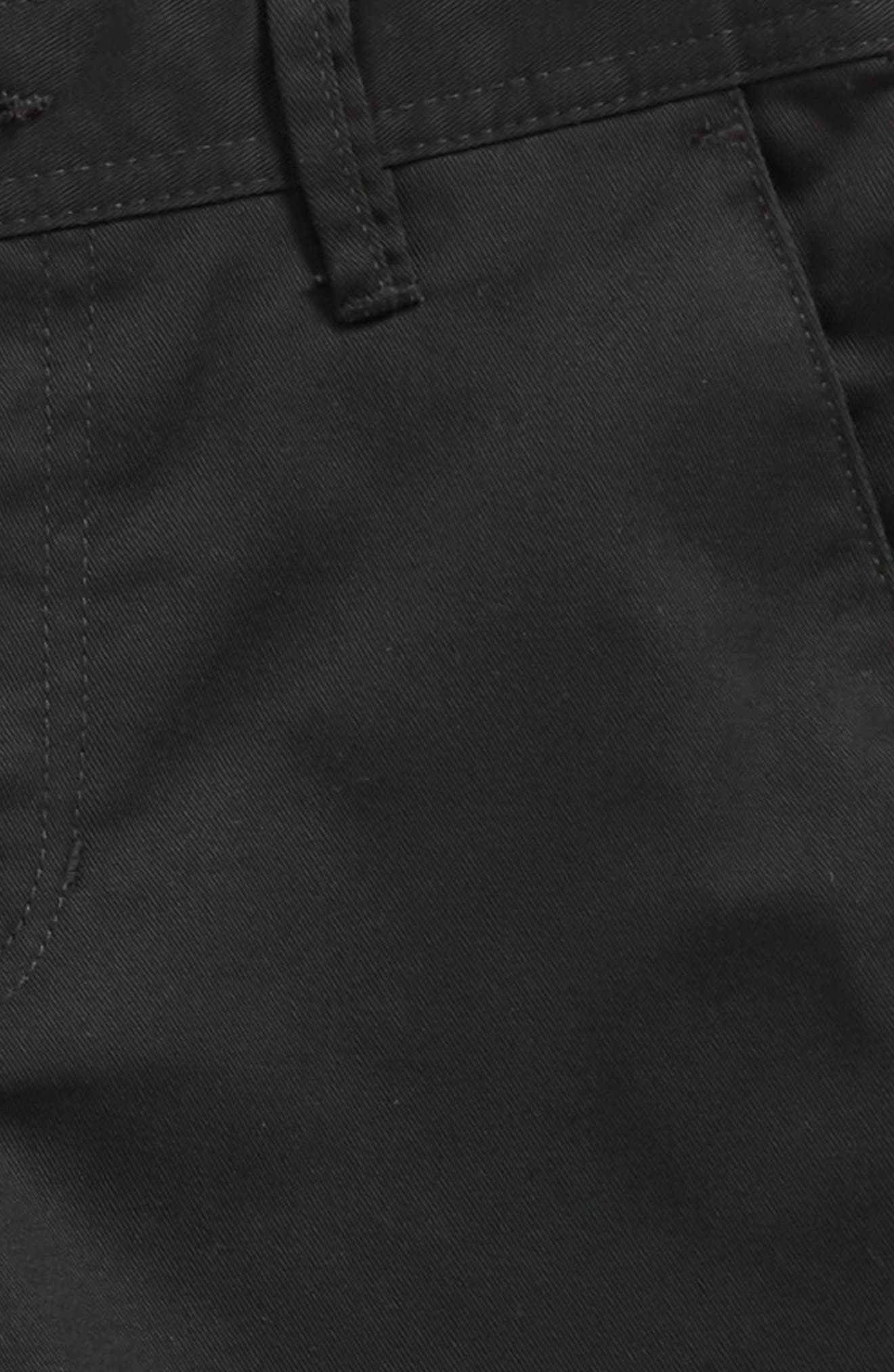 Chino Shorts,                             Alternate thumbnail 2, color,                             BLACK